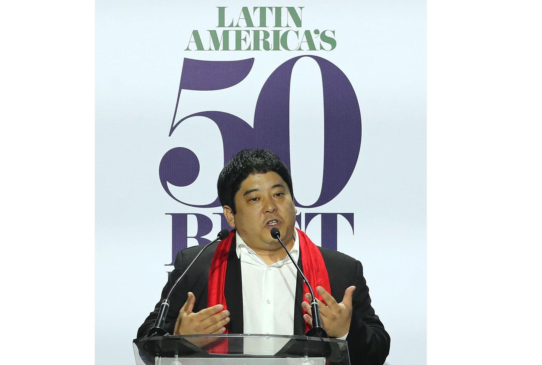 El chef Mitsuharu Tsumura, del restaurante peruano Maido, se convirtió en el mejor de Latinoamérica. Foto: Efe.