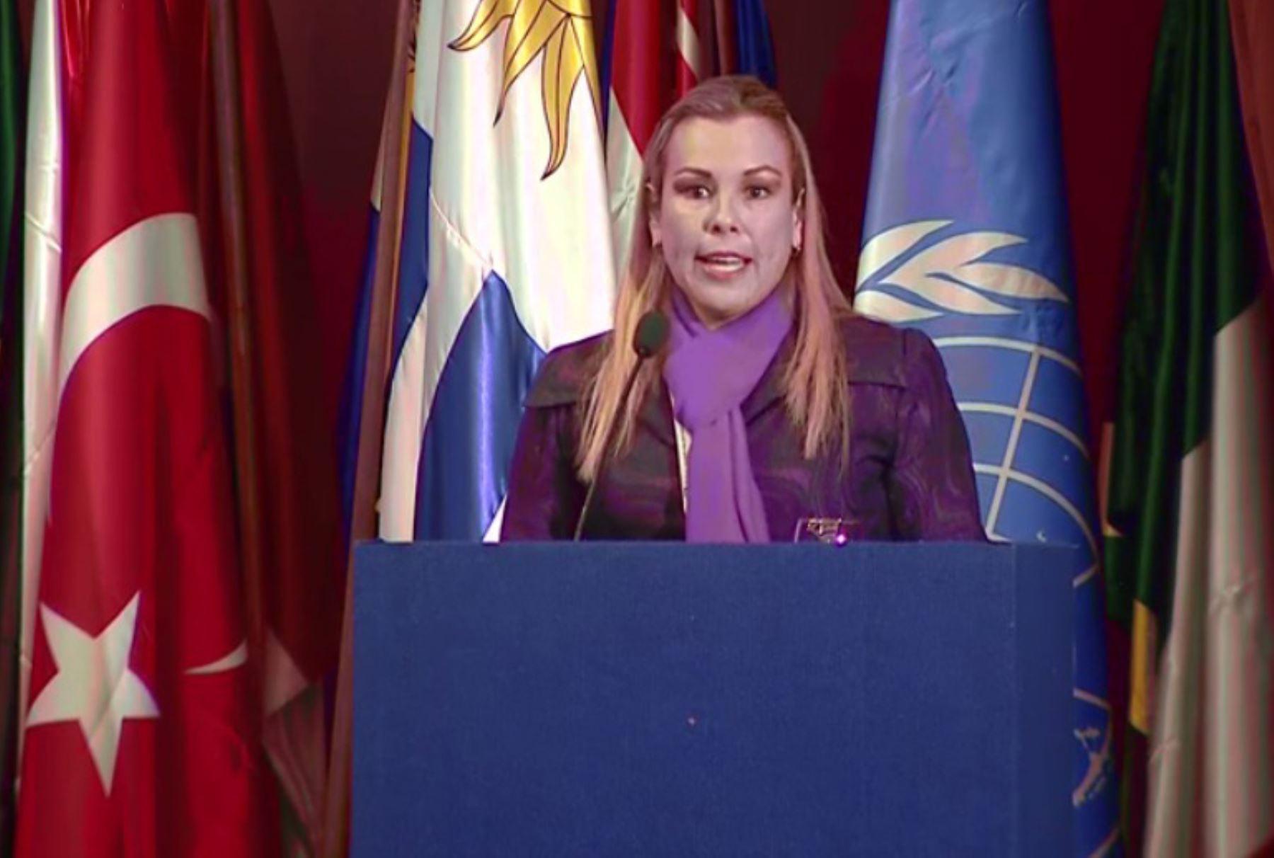 La ministra de Desarrollo e Inclusión Social (MIDIS), Fiorella Molinelli, asiste a la Conferencia Regional sobre Desarrollo Social y IX Foro Ministerial para Desarrollo de América Latina y el Caribe Foto: ANDINA/ Difusión