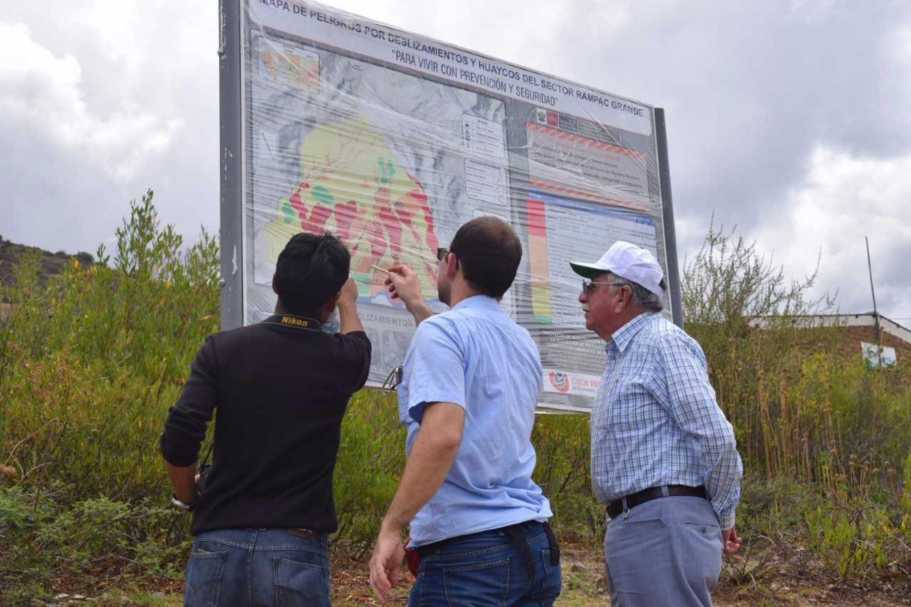 Entregan mapa de peligros por deslizamientos en Carhuaz. ANDINA/Difusión