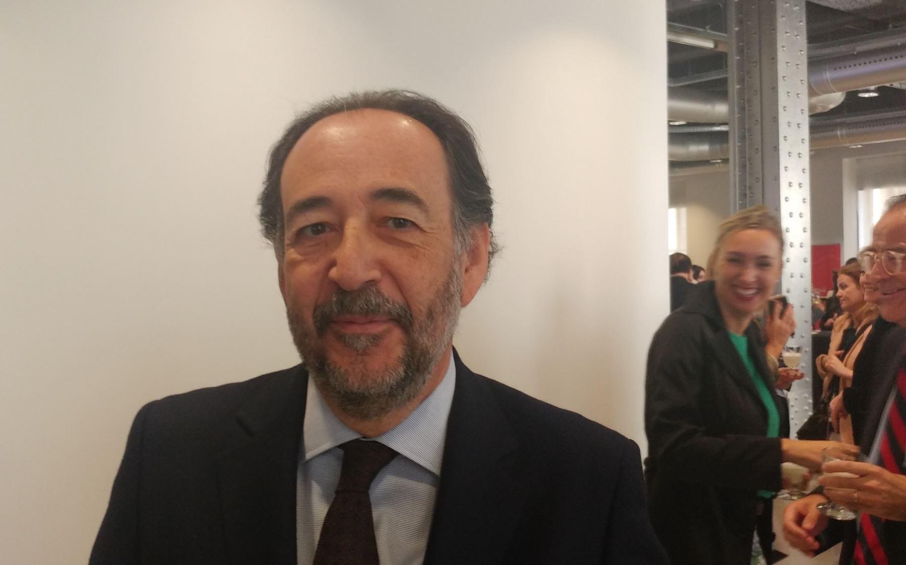 Director Global de Asuntos Públicos y Regulación de Telefónica, Carlos López Blanco. Foto: Andina