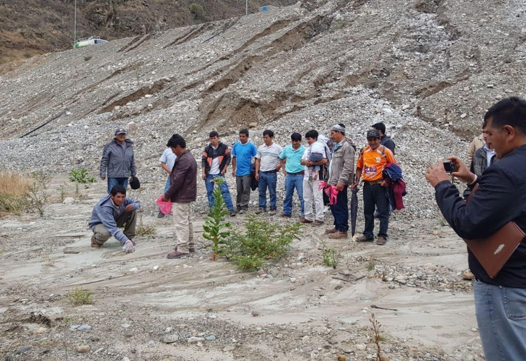 OEFA realiza supervisión ante el derrame de relave minero en sierra de La Libertad ANDINA/Difusión