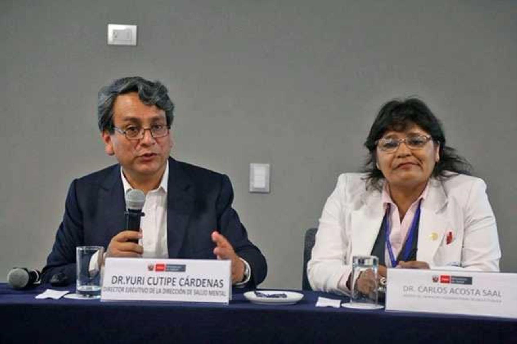 Yuri Cutipé, director de la Dirección de Salud Mental del Ministerio de Salud.