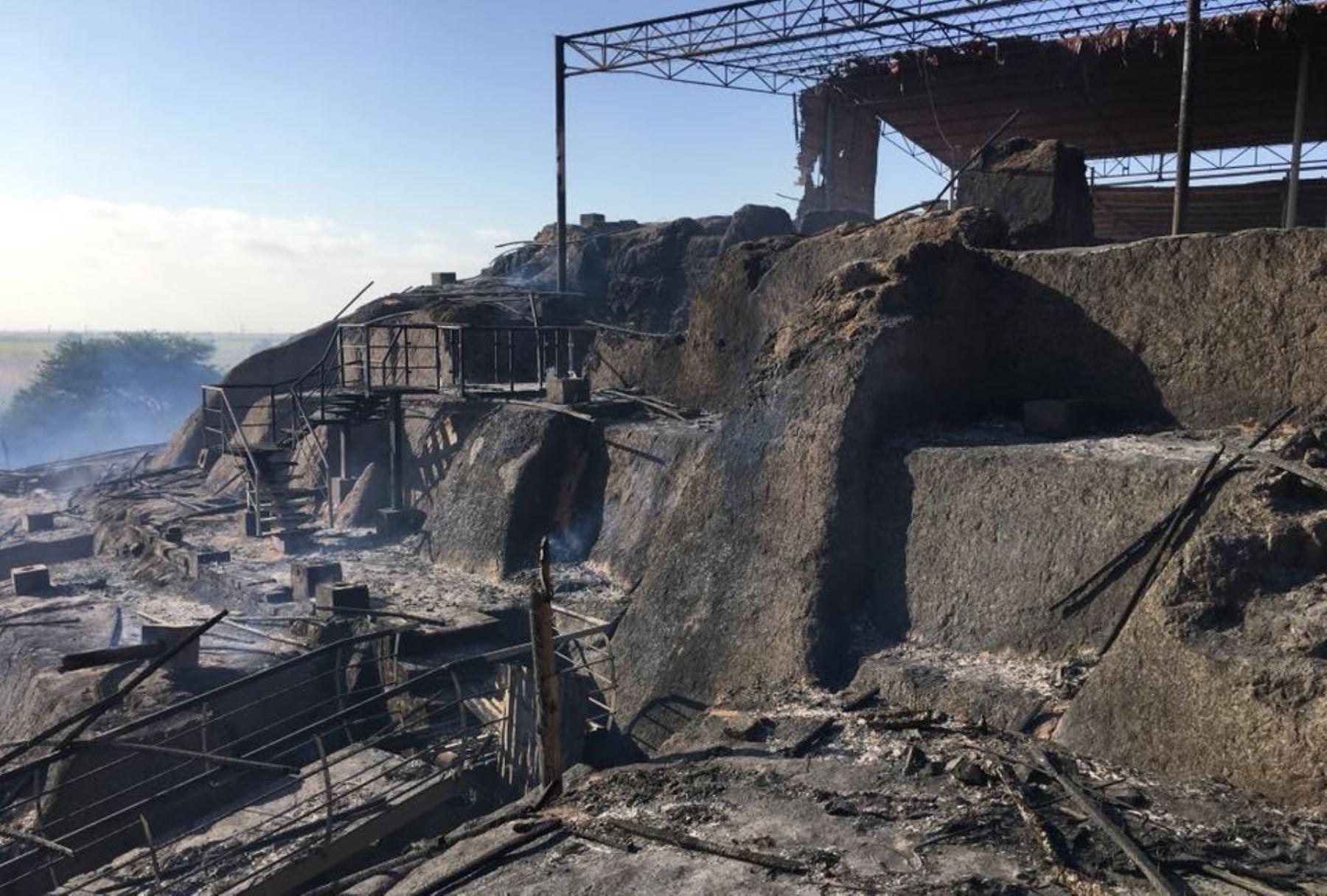 Incendio afectó centro arqueológico Ventarrón.