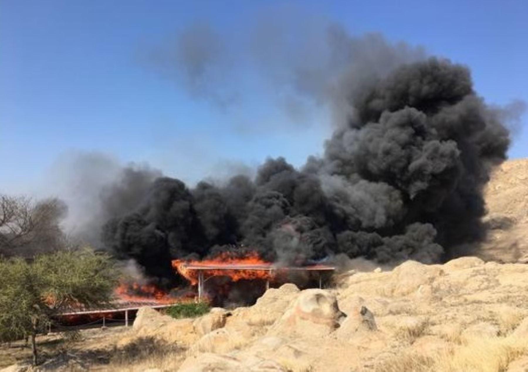 ANDINAWalter Alva lamenta incendio que afectó el complejo arqueológico Ventarrón, en Lambayeque. ANDINA