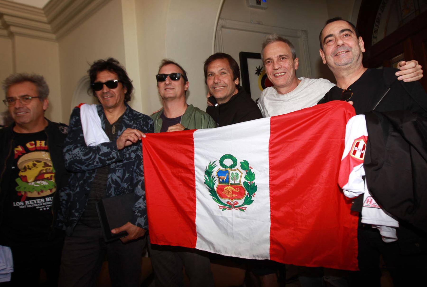 Los músicos tienen un gran sentimiento de cariño al Perú. ANDINA/Héctor Vinces