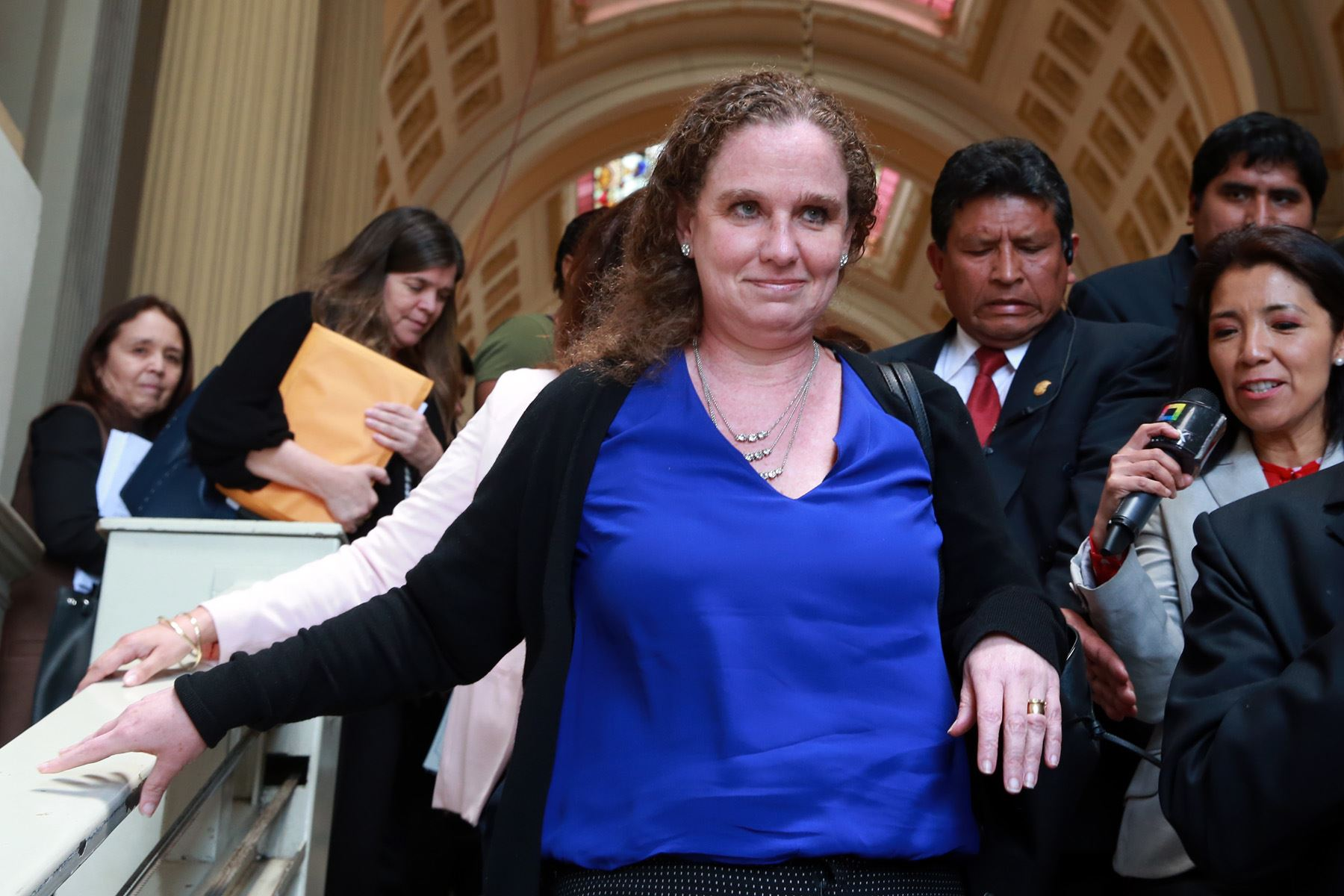 Ministra de Economía y Finanzas, Claudia Cooper. ANDINA/Dante Zegarra