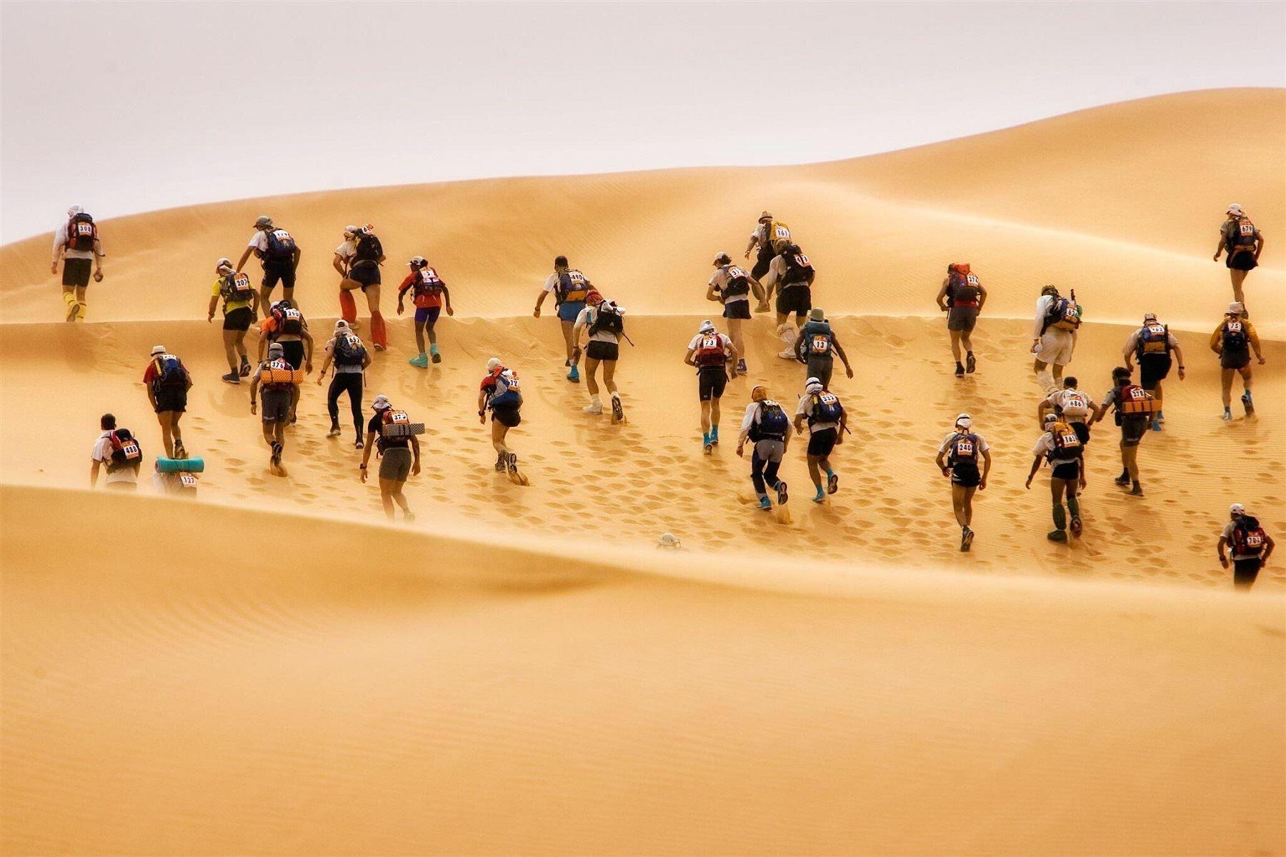 Maratón Des sables: conoce el deslumbrante escenario natural de Ica en esta competición. ANDINA/Difusión