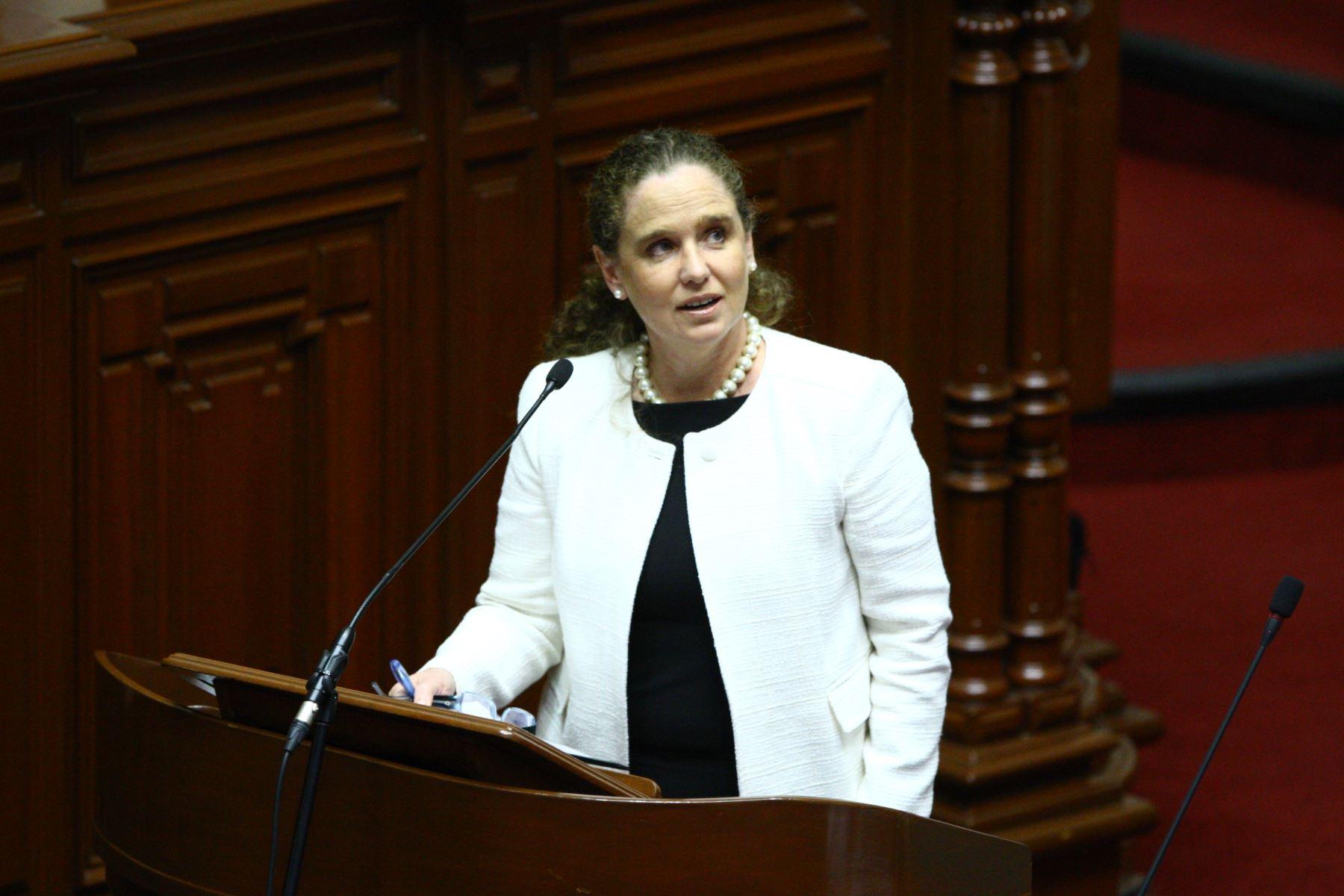 Ministra Claudia Cooper.Foto:  ANDINA/Dante Zegarra.