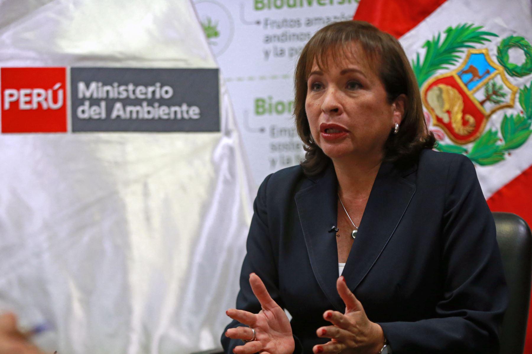 Ministra del Ambiente, Elsa Galarza.Foto:  ANDINA/Vidal Tarqui.