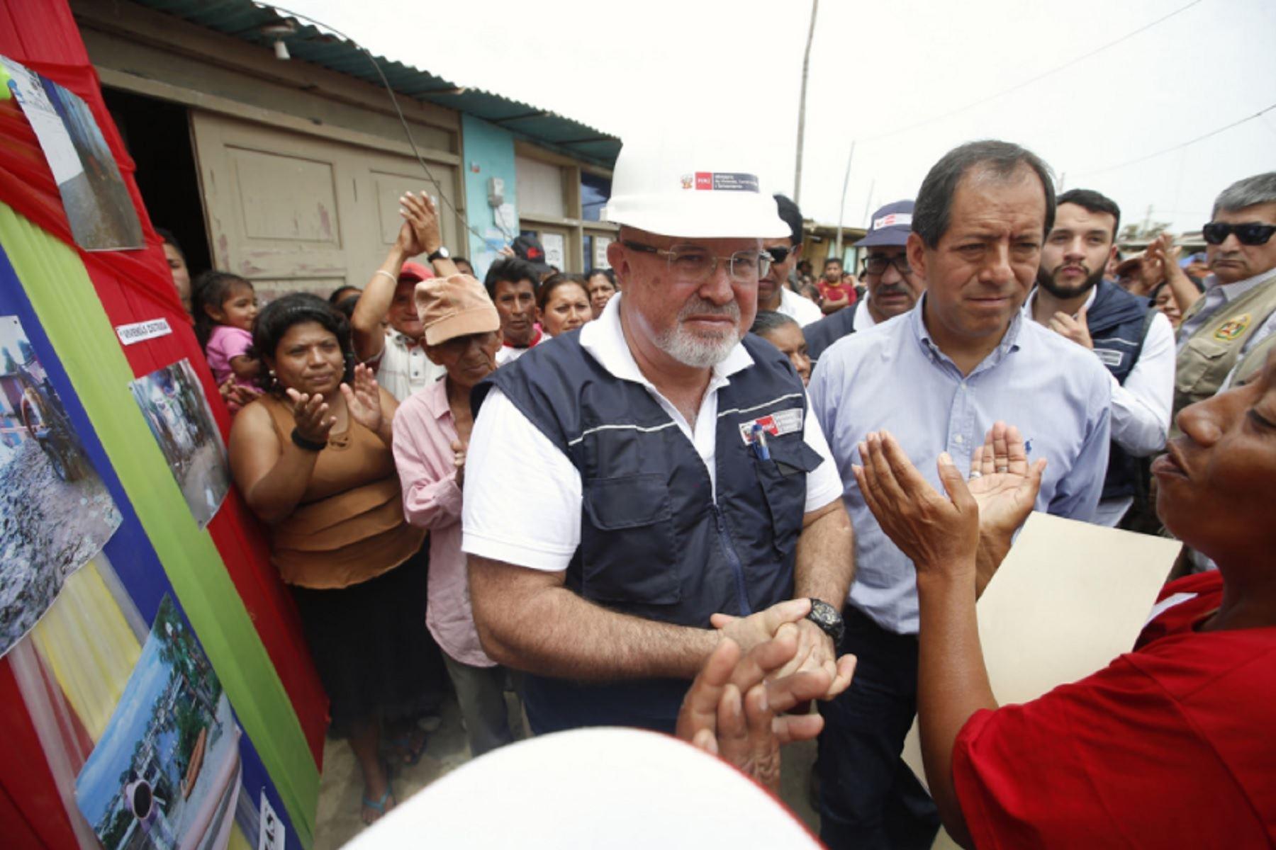 Ministro de Vivienda, Construcción y Saneamiento, Carlos Bruce, cumplió agenda de trabajo en Piura.