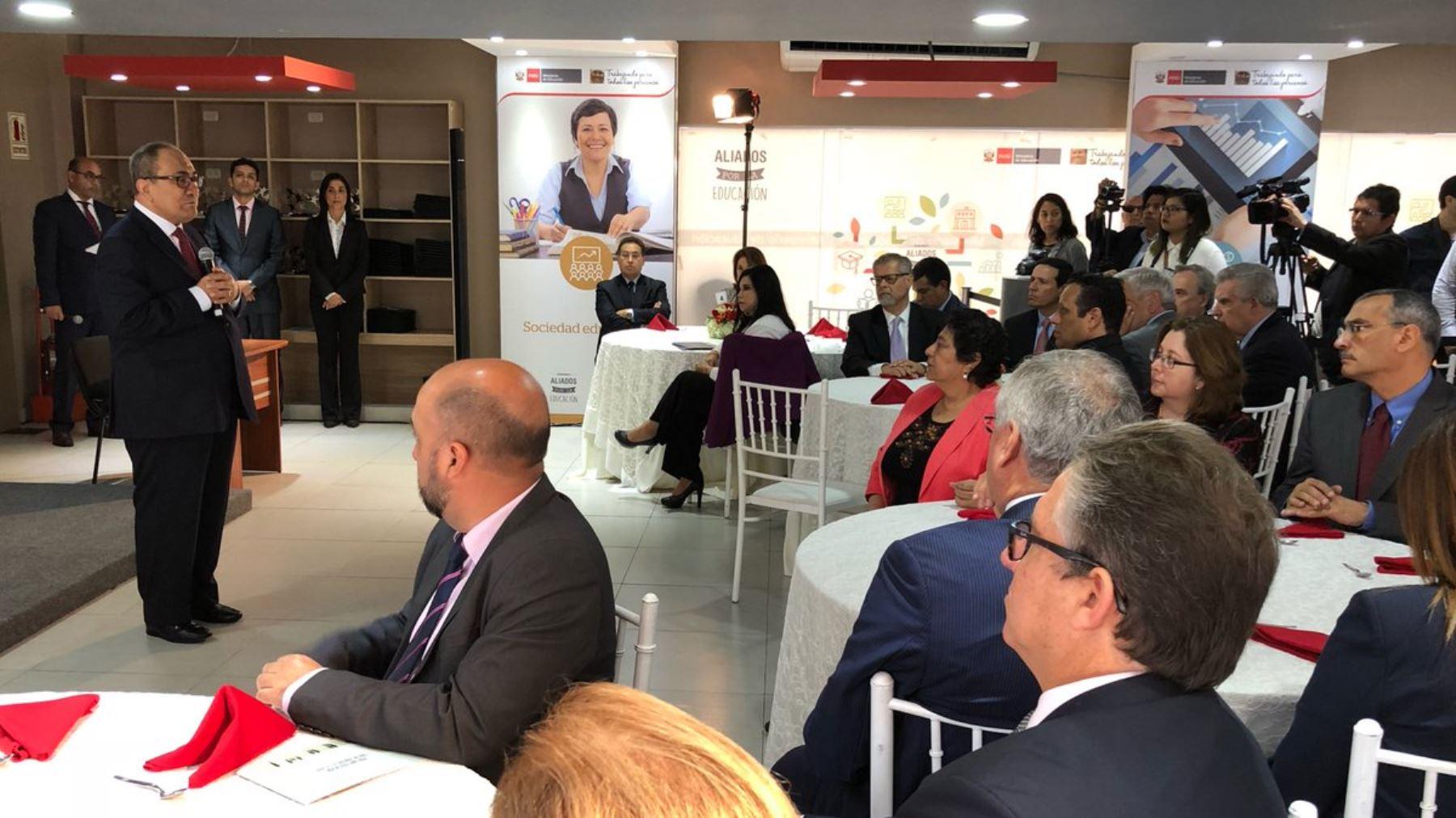 Empresas articularon proyectos en beneficio de la calidad educativa. Foto: Difusión
