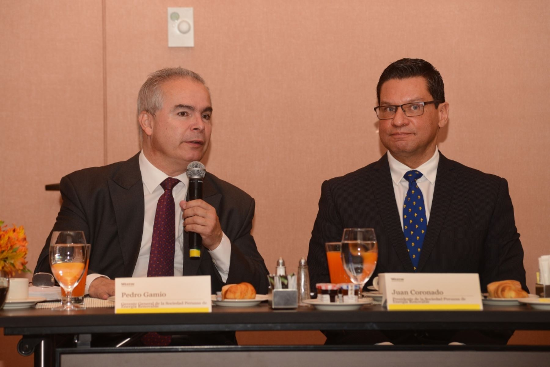 Pedro Gamio y Juan Coronado de la Sociedad Peruana de Energías Renovables (SPR). Foto: Cortesía.