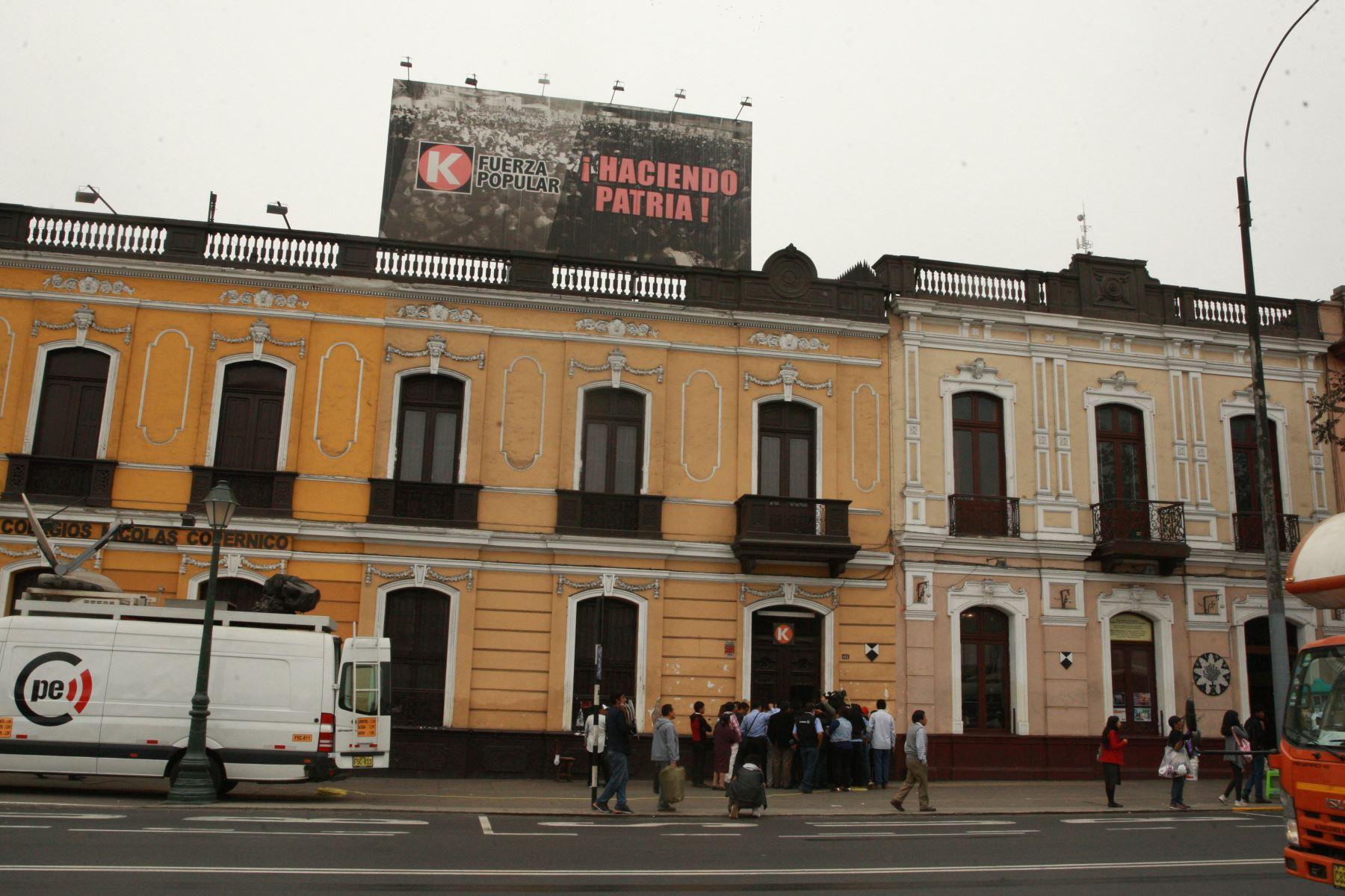 Local central de Fuerza Popular en Paseo Colón. Foto: ANDINA/Dante Zegarra.