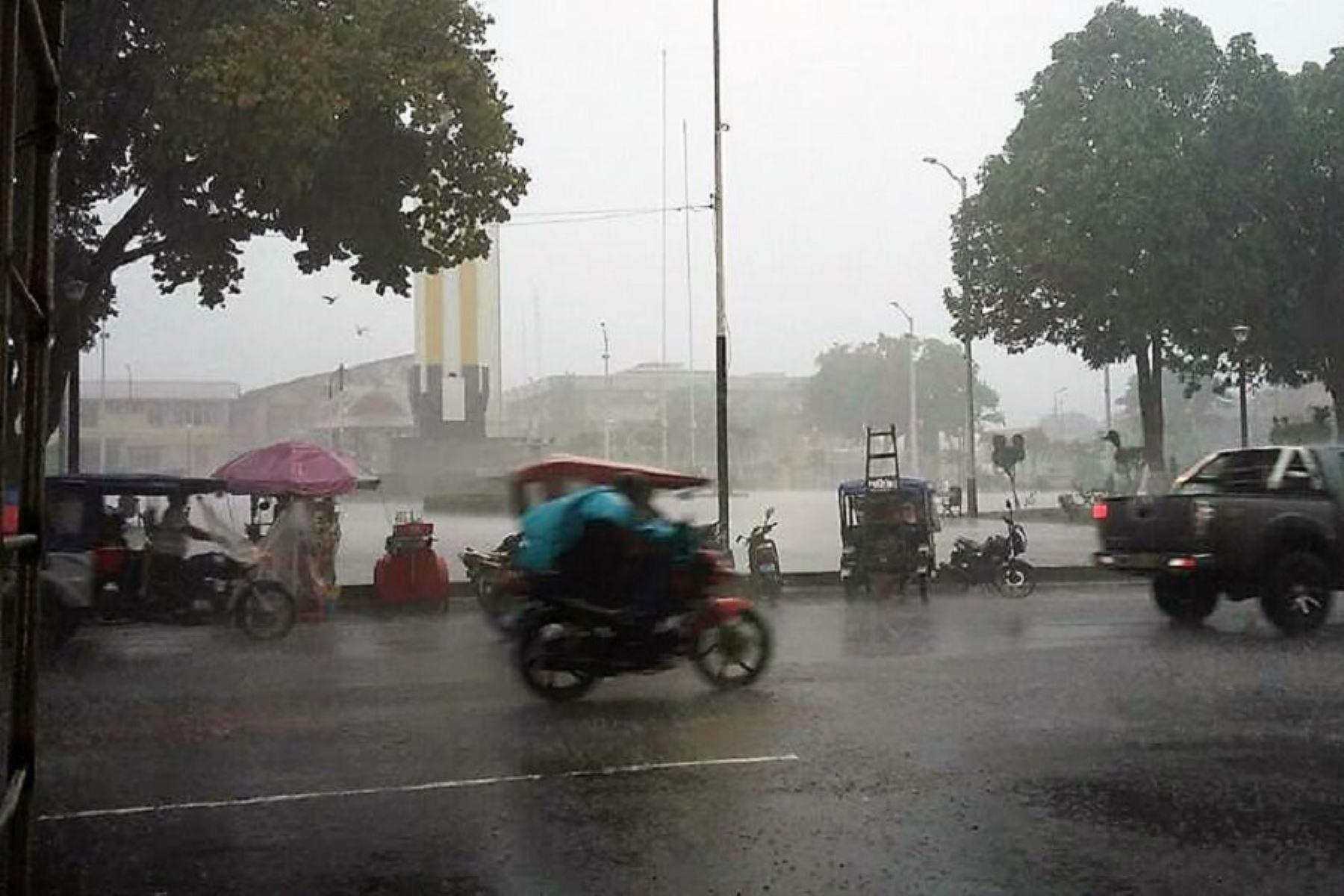 San Martín es uno de los departamentos donde se registrarán lluvias de moderada a fuerte intensidad desde esta tarde. ANDINA