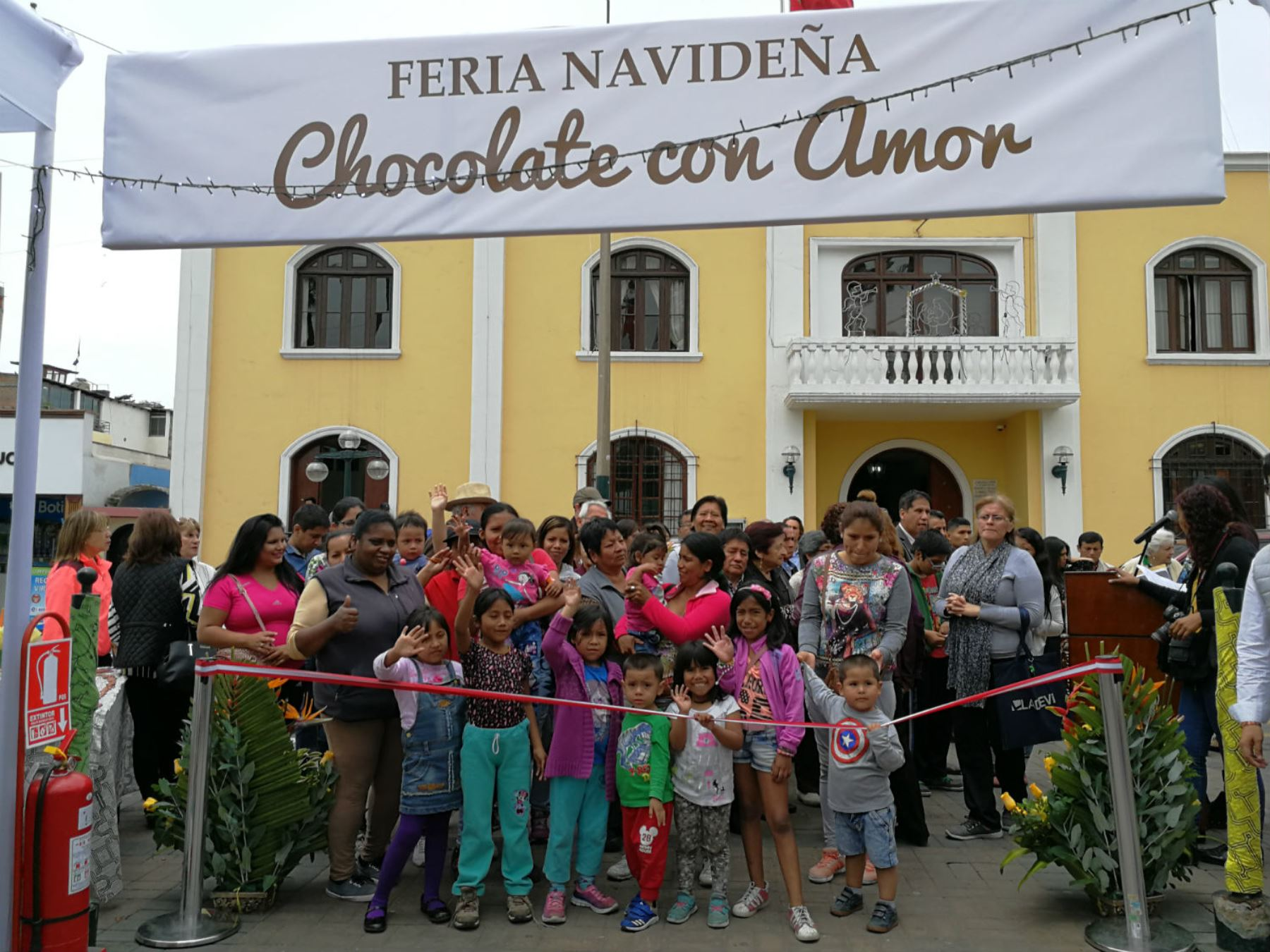 Feria navideña Chocolate con amor se abrió en Surco. Foto: Andina/Difusión