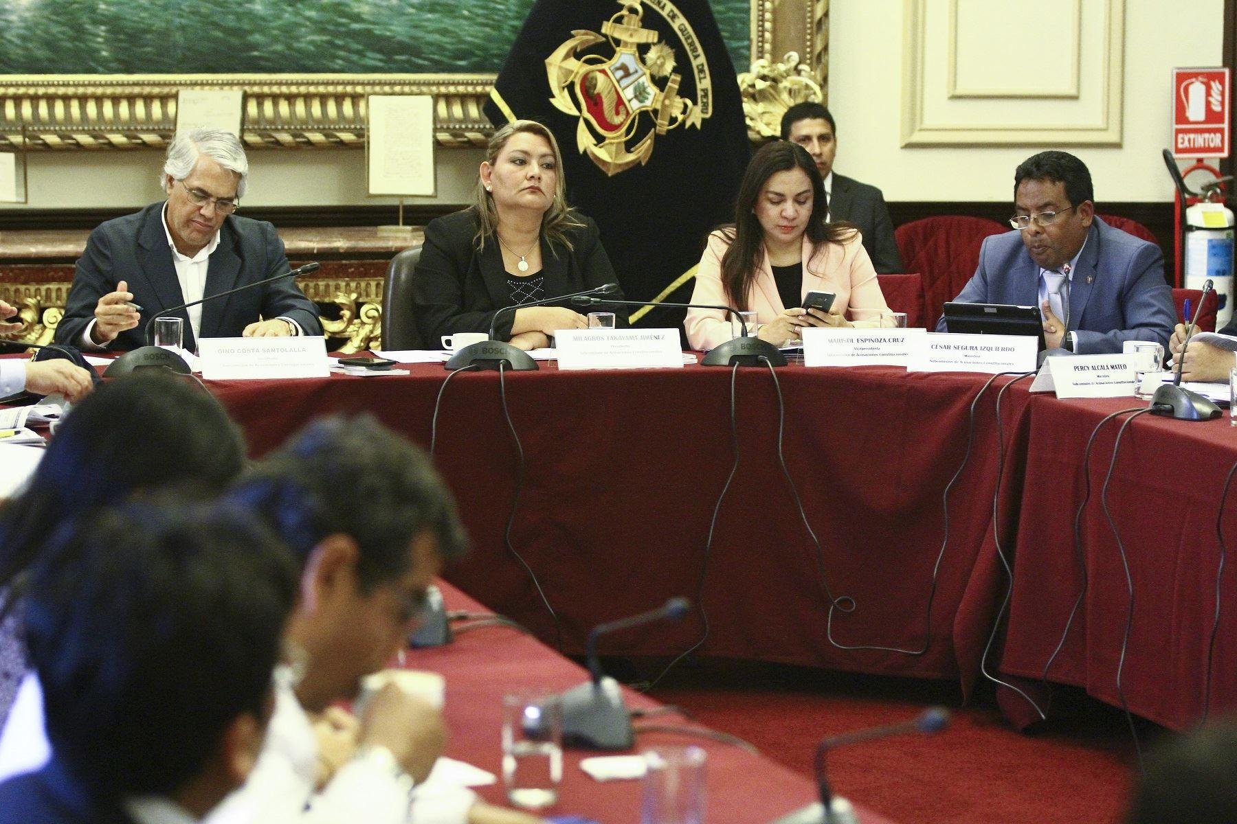 Subcomisión de Acusaciones Constitucionales.