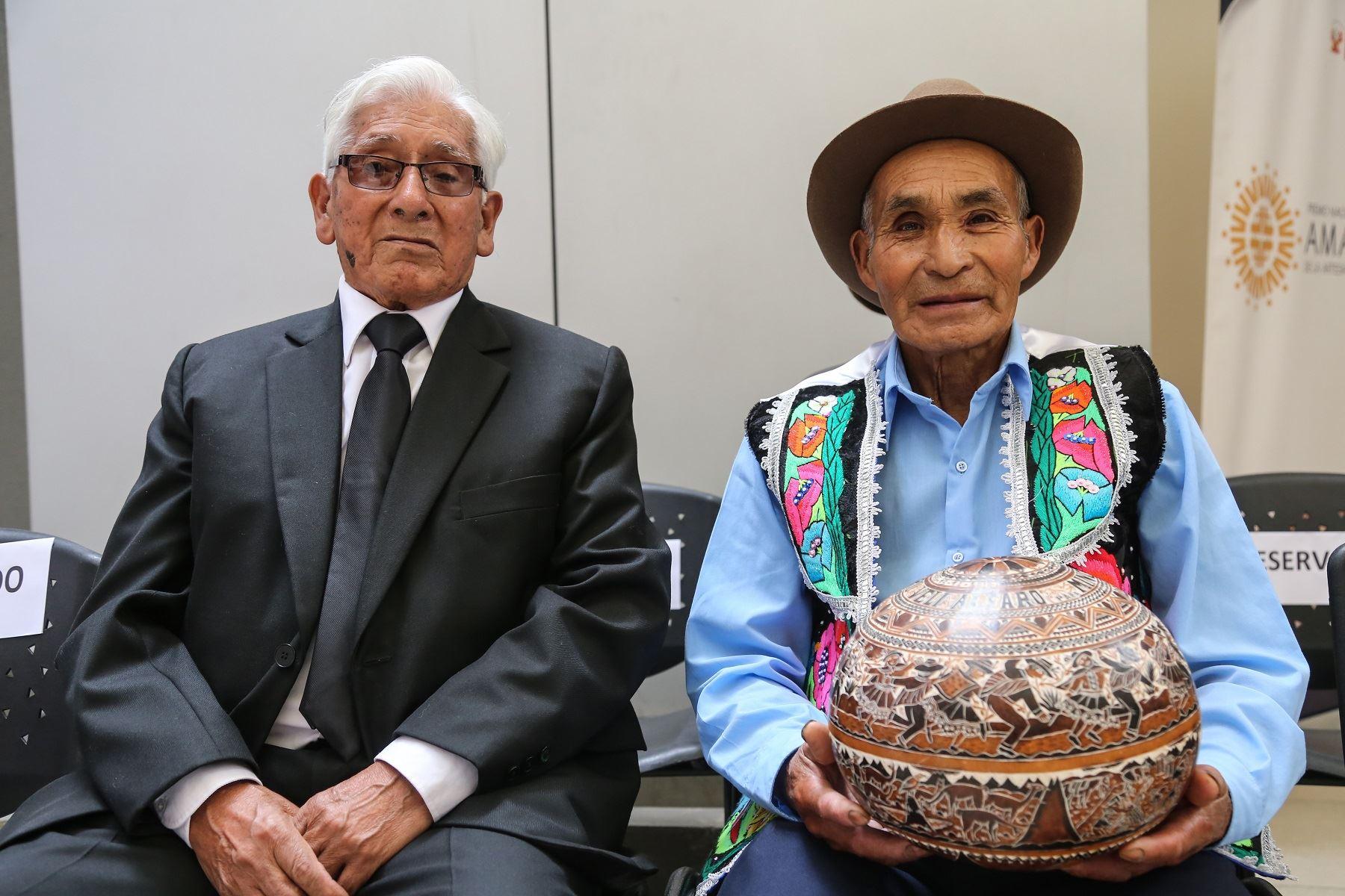 Pedro Veli Alfaro, de Huancayo; y Agustín Alarcón Chávez, de Ayacucho, son los ganadores del Premio Nacional Amautas.