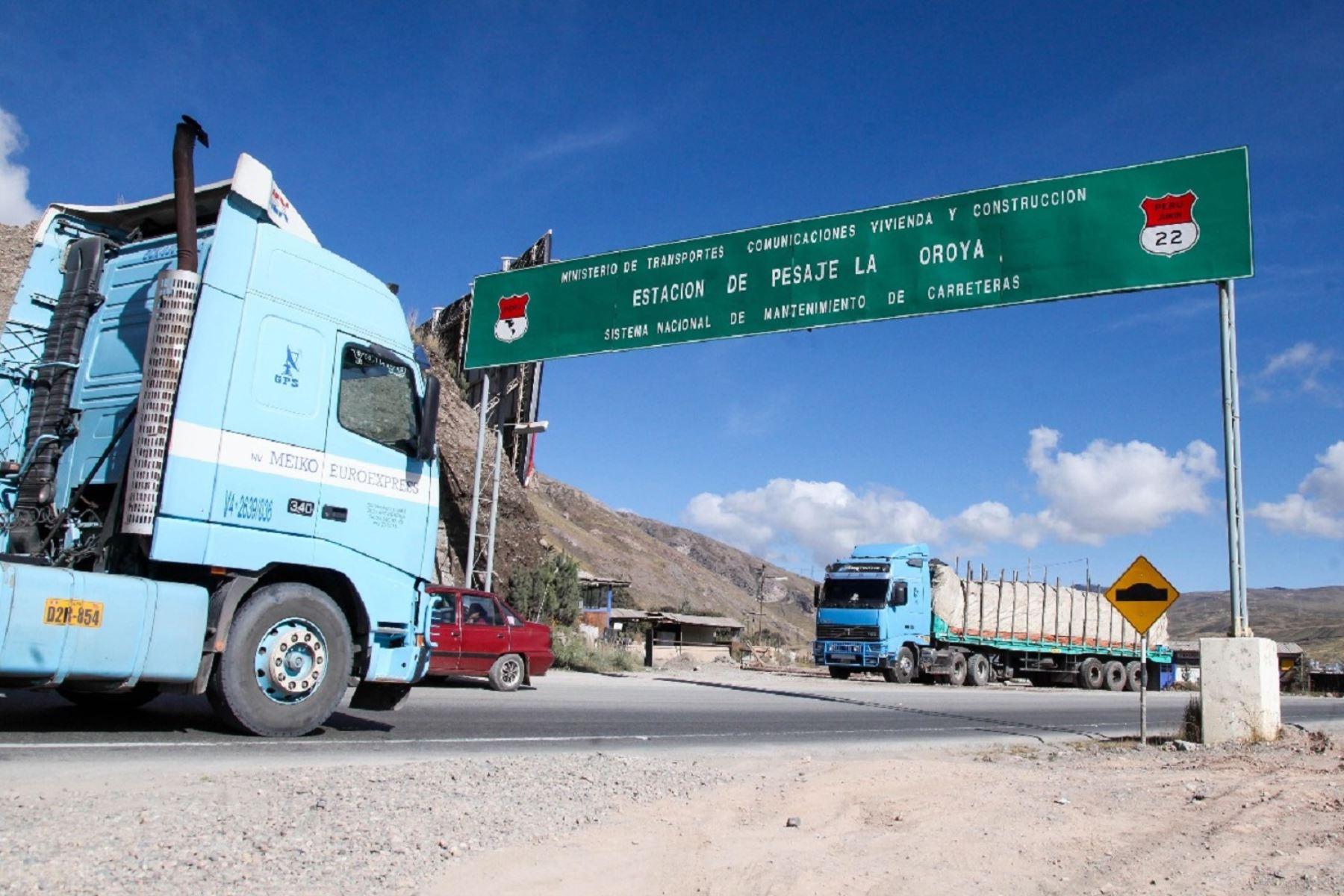 Restringirán el tránsito en la carretera Central por feriado largo de Fiestas Patrias. ANDINA/Difusión