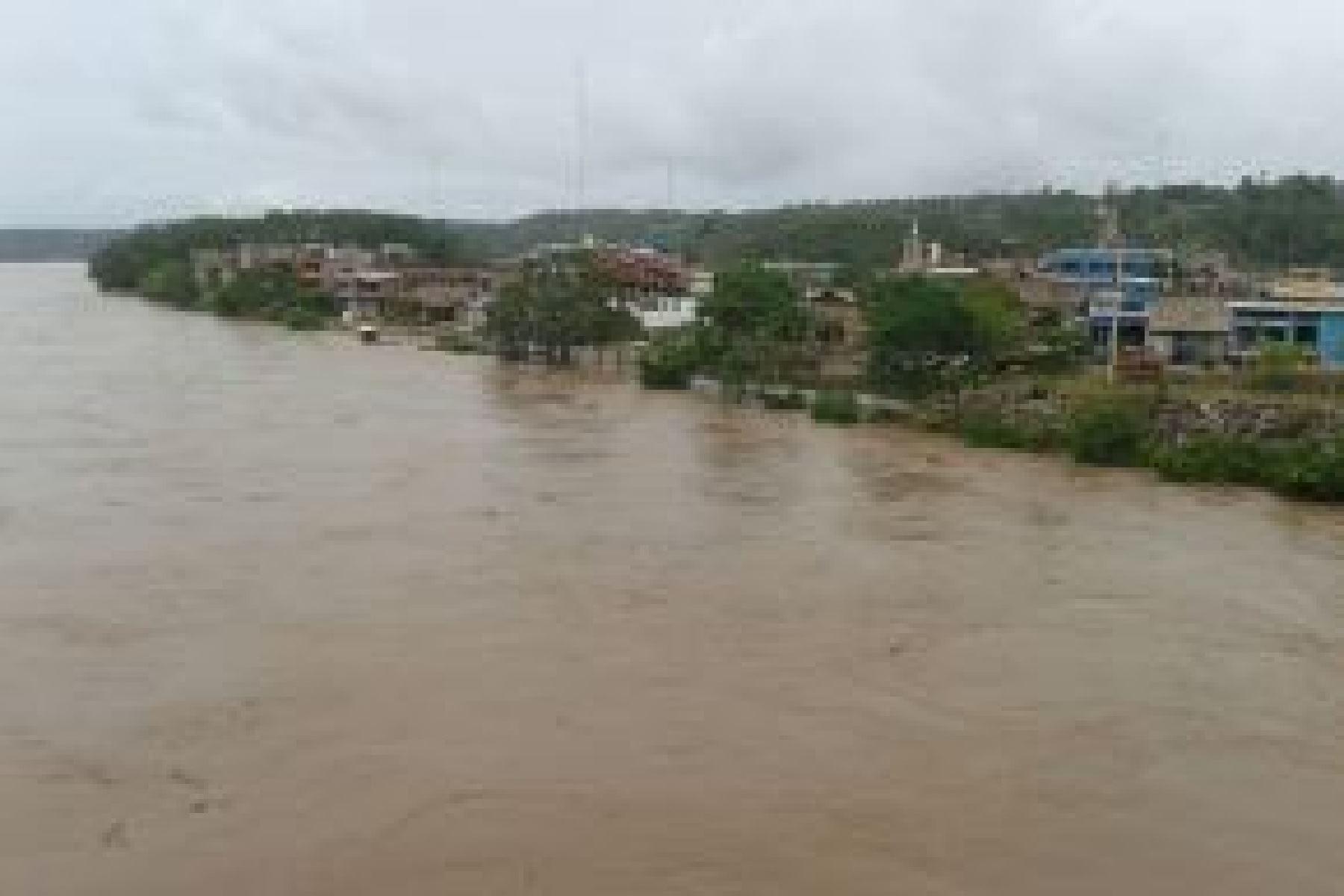 El río Huallaga, en la región Huánuco, ha incrementado significativamente su nivel de agua como resultado de la intensificación de lluvias sobre la cuenca media y alta, estando próximo a ingresar en alerta roja, informó el Servicio Nacional de Meteorología e Hidrología (Senamhi). ANDINA/Difusión