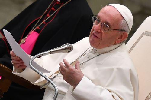 El Papa Francisco , envió saludo a la Libertad durante una audiencia general semanal, en el Vaticano. Foto:AFP