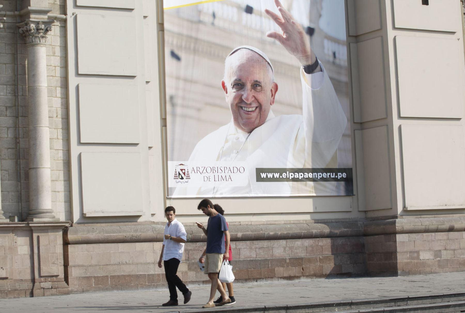 Papa Francisco. Foto: ANDINA/Eddy Ramos