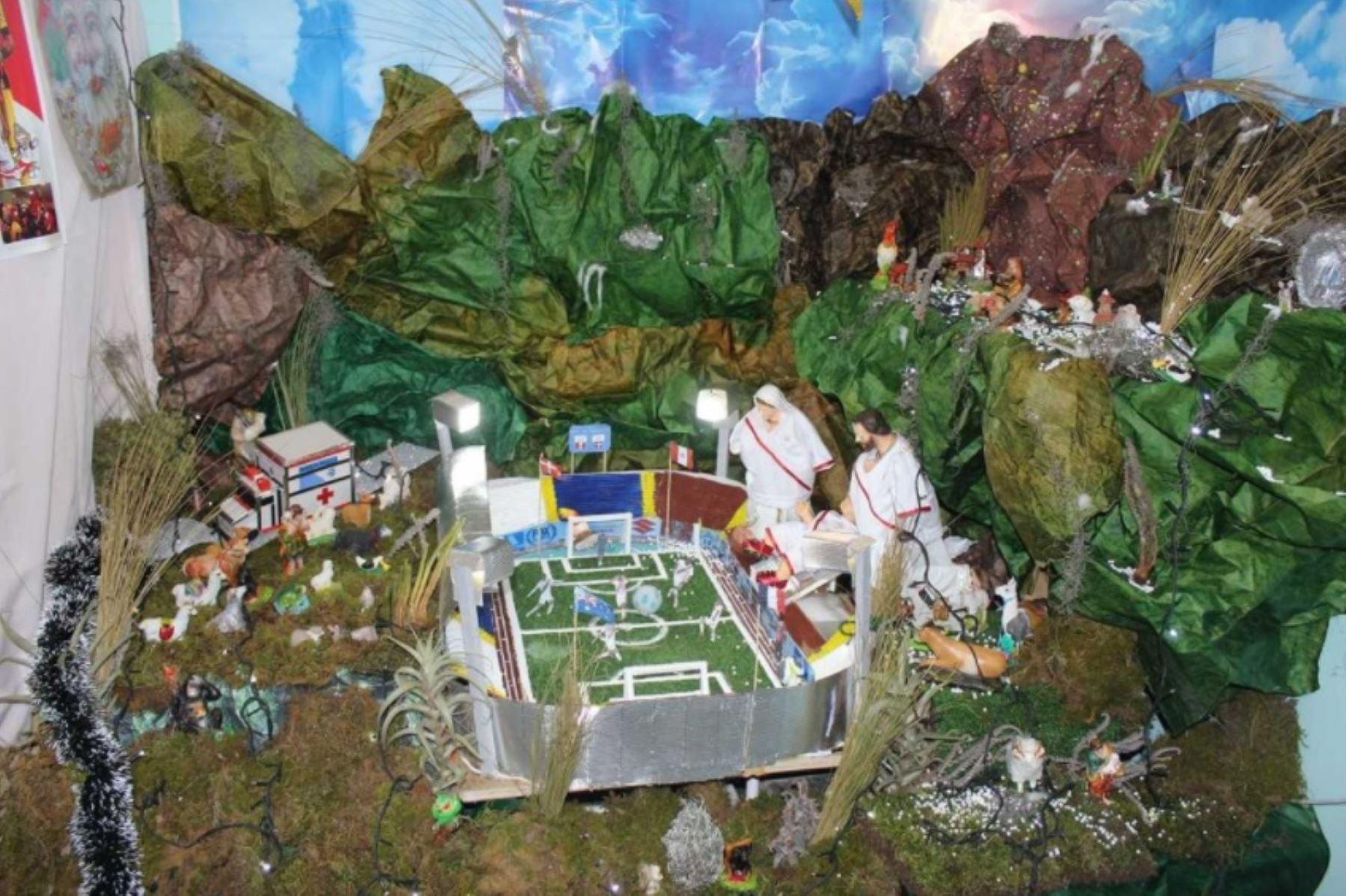 46b9d560aa1 Huancayo  creativo nacimiento navideño causa sorpresa y admiración ...