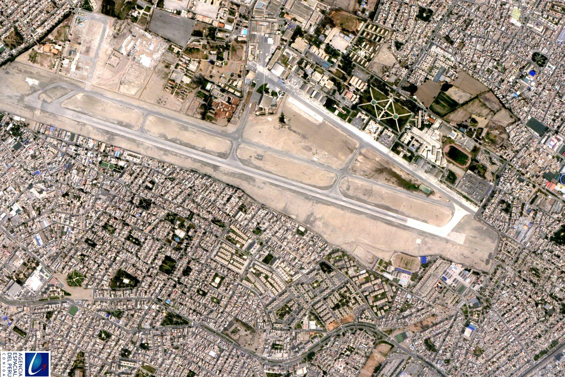Así se ve base aérea Las Palmas desde el Perú SAT 1. Foto: ANDINA/Difusión