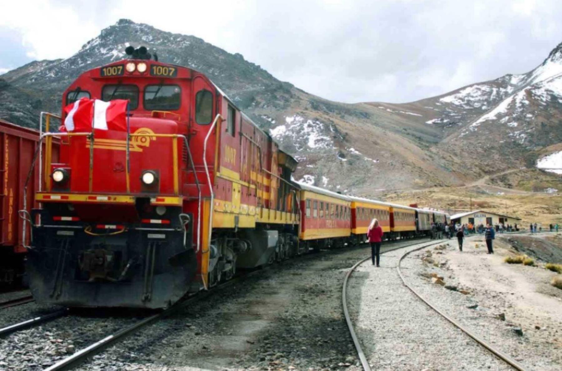 Ferrocarril del Centro. ANDINA/Difusión
