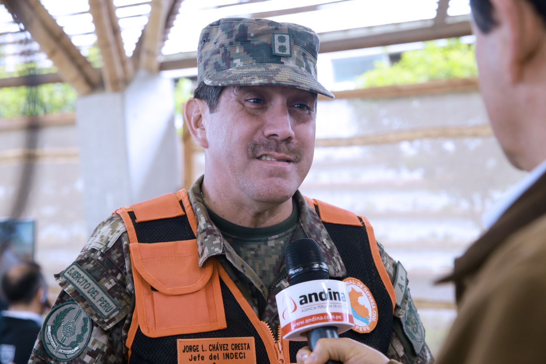 General Jorge Chávez, jefe del Indeci. Foto: ANDINA/Norman Córdova.