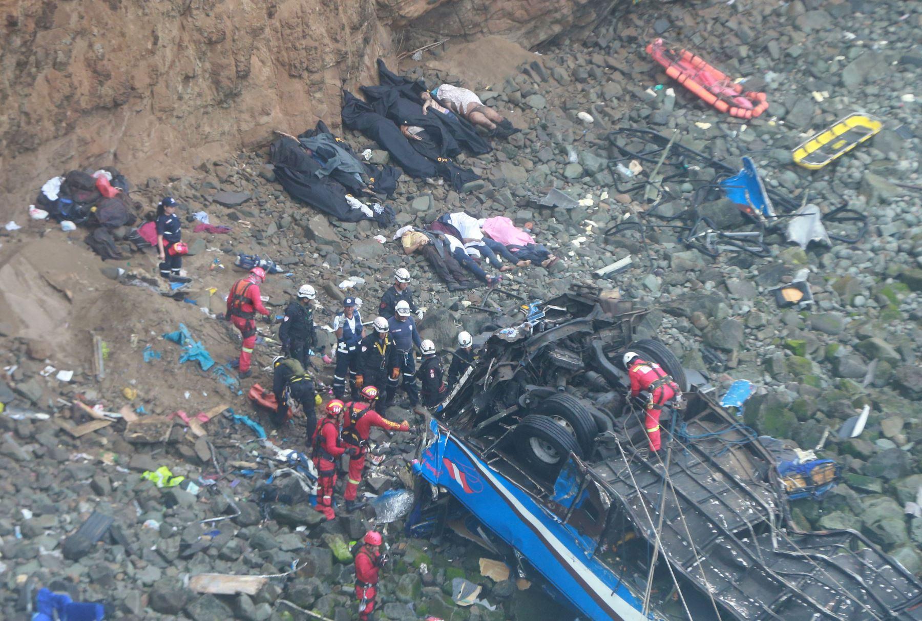 Indecopi multó con S/ 1.86 millones a empresa por accidente en Pasamayo que dejó 52 muertos. ANDINA/Vidal Tarqui