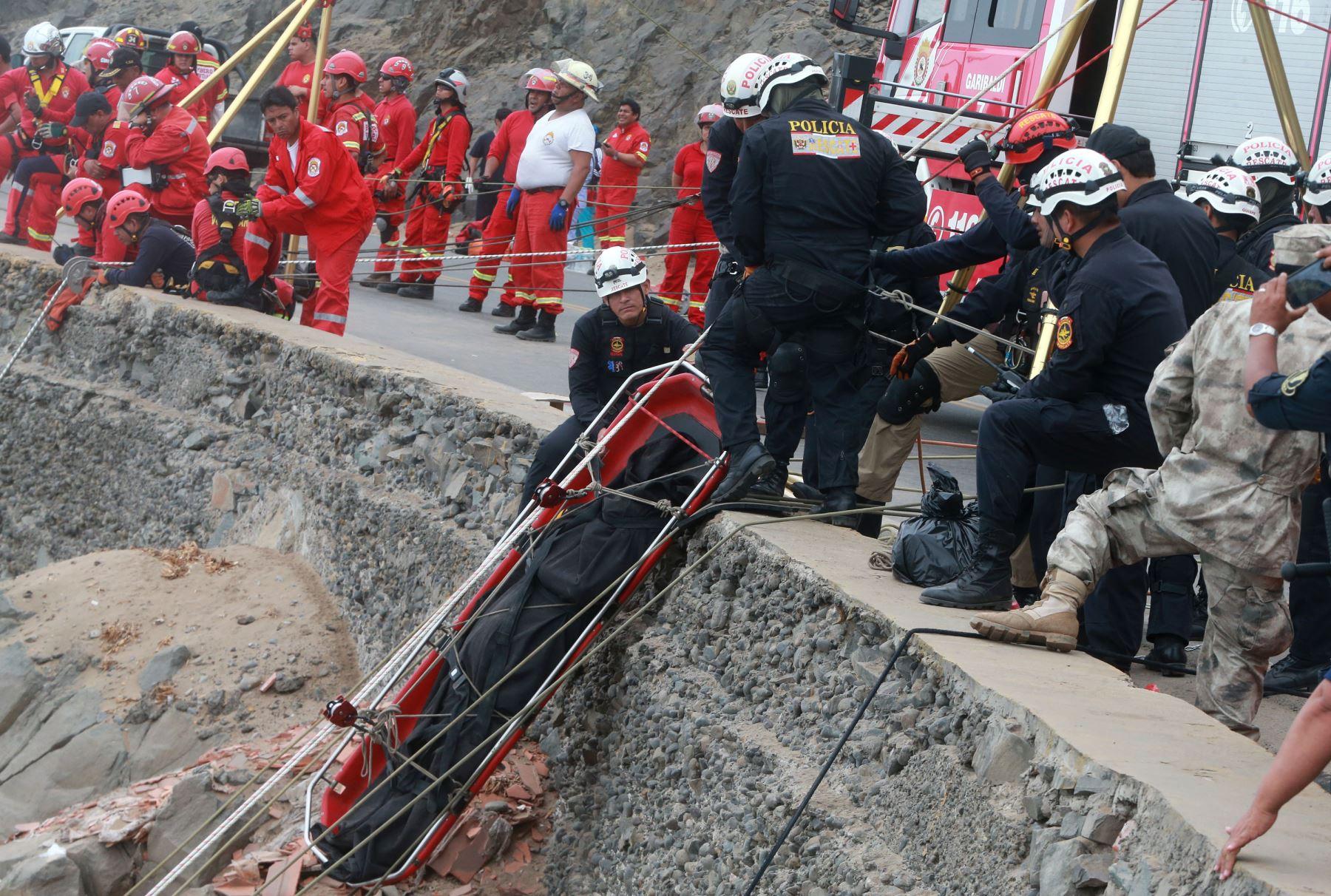Funcionaria del Ministerio de Trabajo,Astrid Sánchez, y excolaboradora Tatiana Velazco, entre víctimas mortales del accidente en Pasamayo, ANDINA. Vidal Tarqui