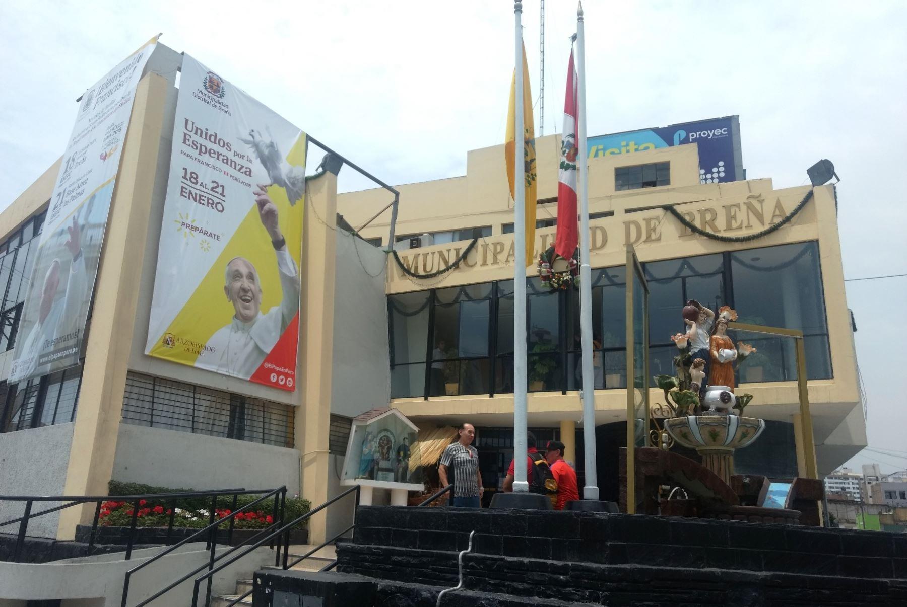 Casas de Breña serán embanderadas por llegada del Papa Francisco. Foto: ANDINA/Difusión.