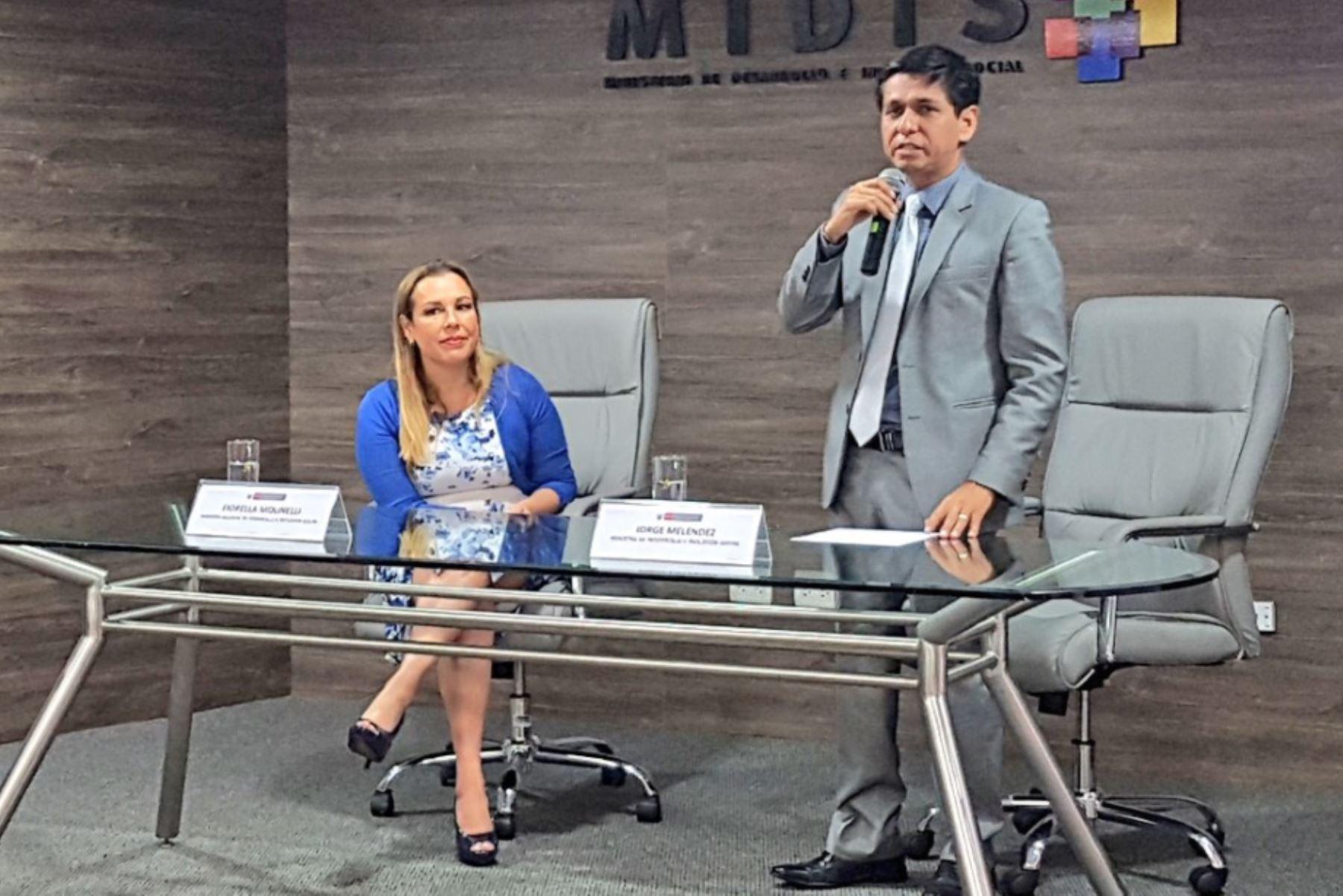 Jorge Meléndez asumió funciones como nuevo titular del Midis. Foto: Difusión.