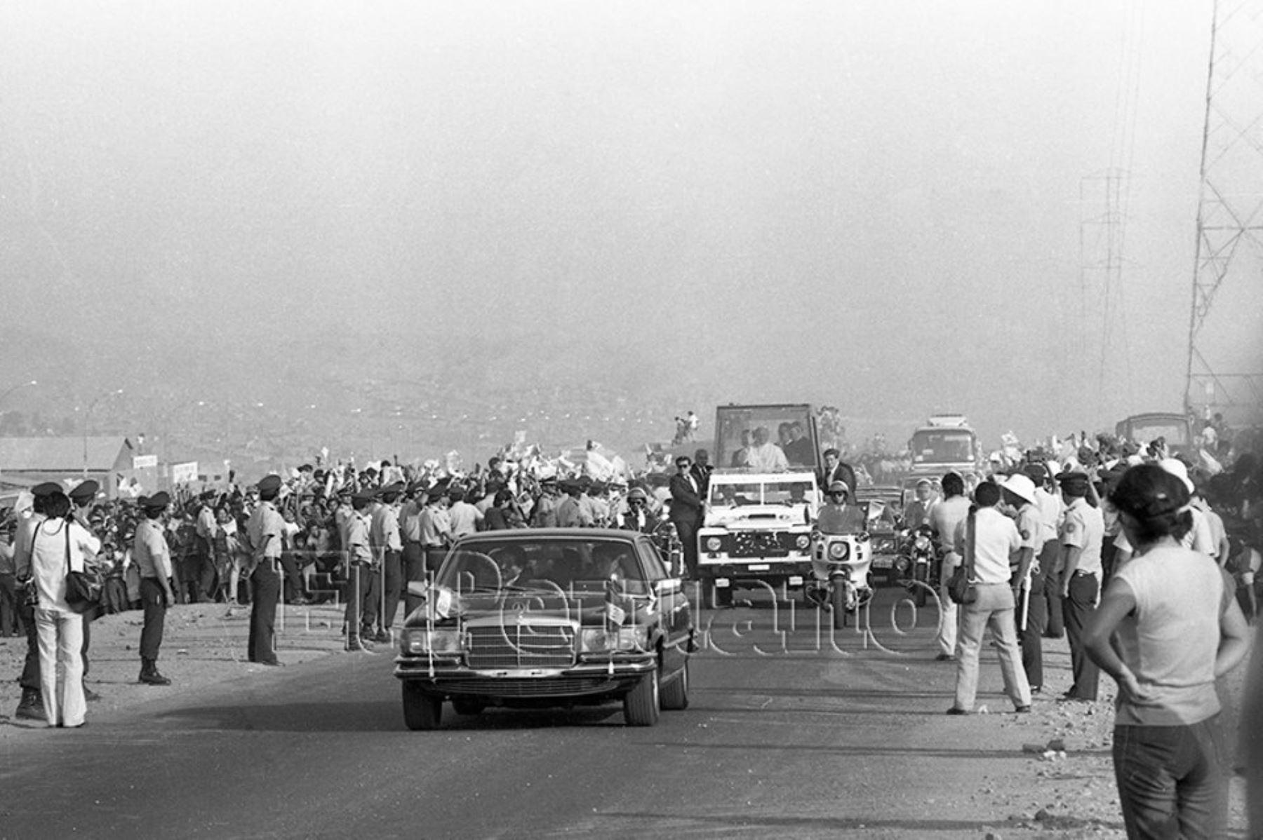 Visita del Papa Juan Pablo II al Perú en 1985. Foto: ANDINA