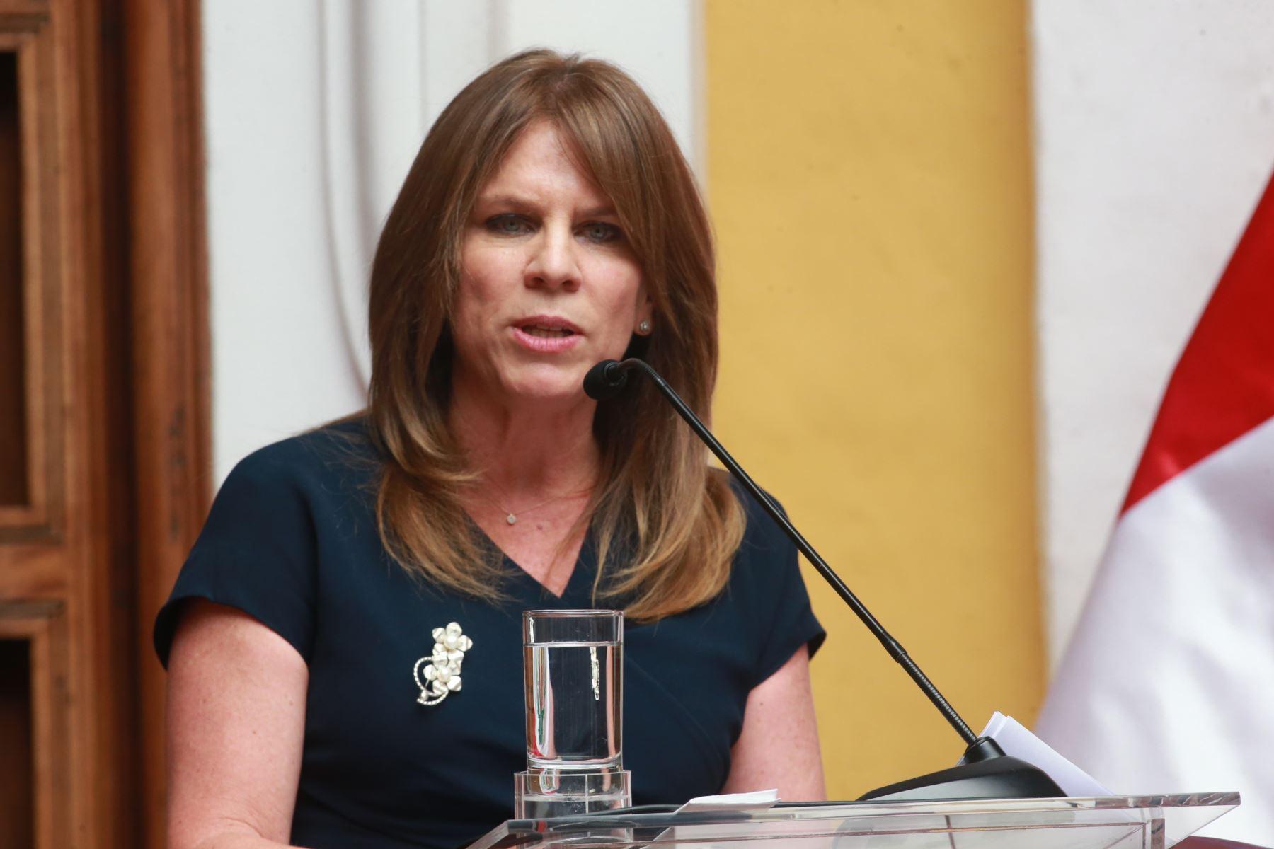 LIMA,PERÚ.ENERO 12. Presentación oficial de la canciller Cayetana Aljovín Gazzani, en Palacio de Torre Tagle. Foto: ANDINA/Jhony Laurente
