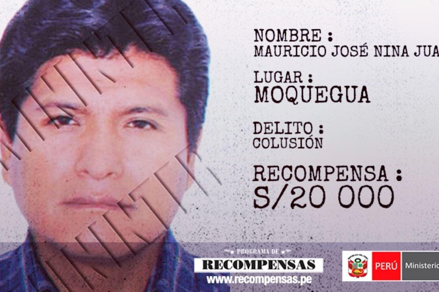 Ex alcalde provincial de General Sánchez Cerro, Mauricio José Nina Juárez, requisitoriado por colusión.
