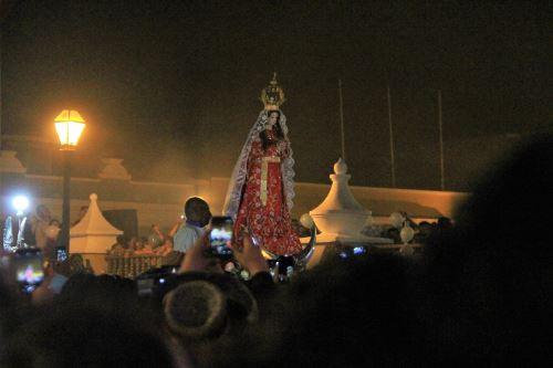 Artistas de Otuzco se unen para grabar una canción donde piden a la Virgen de la Puerta poner fin al coronavirus. ANDINA