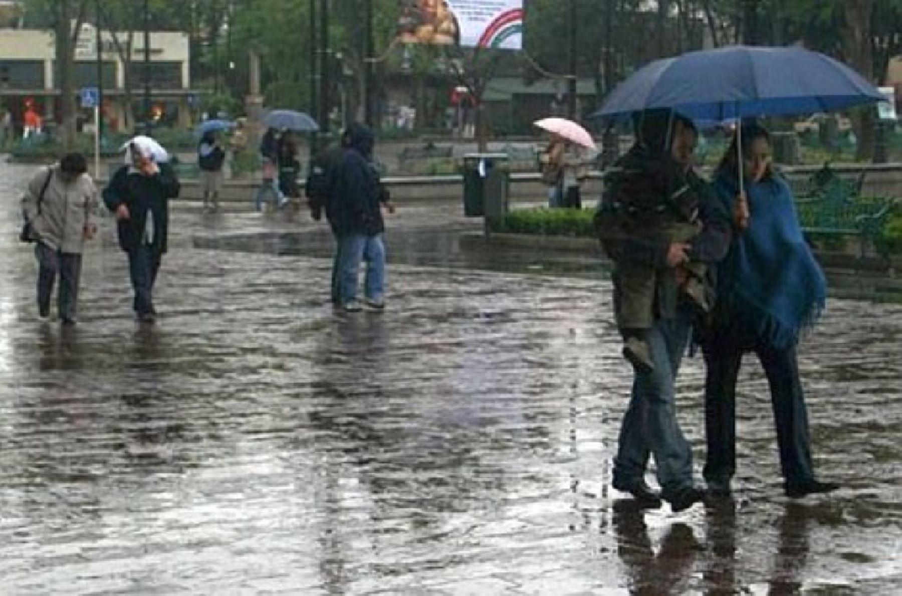 Lluvias de moderada intensidad se presentarían hasta esta medianoche en 12 regiones, pronosticó el Senamhi. ANDINA/Difusión