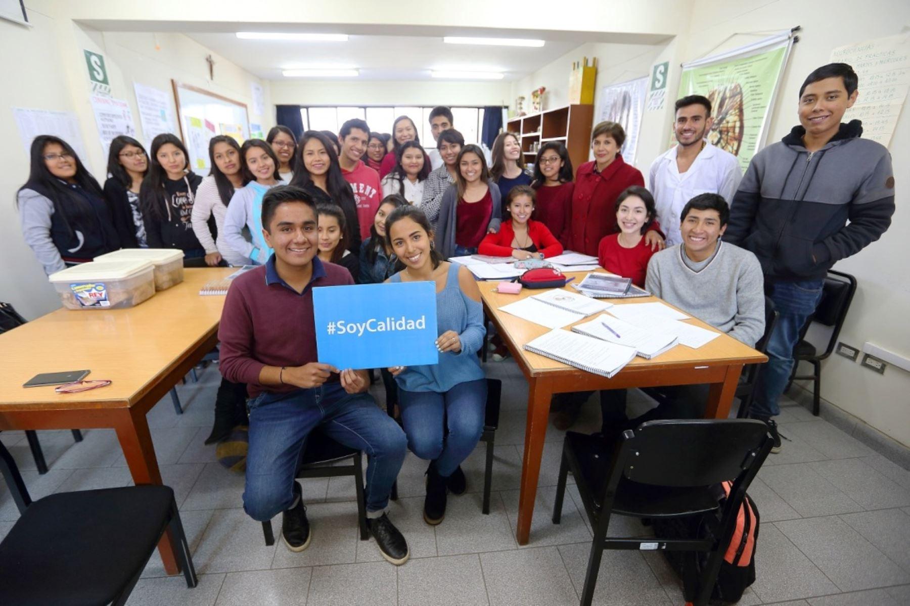 Estudiantes universitarios. Foto: ANDINA/Difusión.