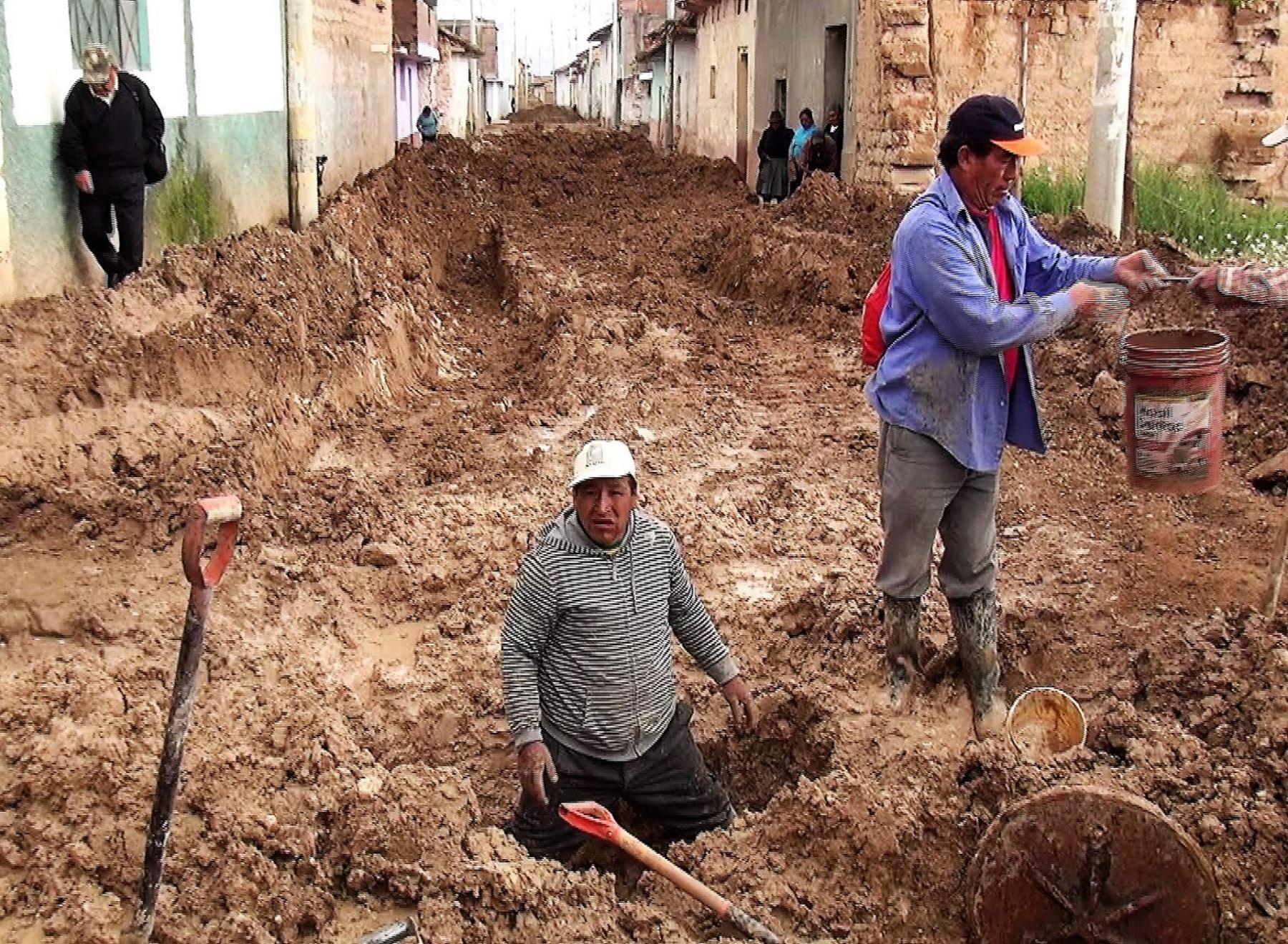 Más de 30 viviendas de distrito de Sicaya, Huancayo, resultaron afectadas por fuerte lluvia. ANDINA/Pedro Tinoco