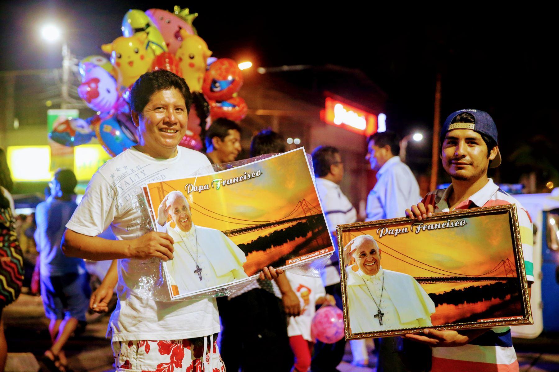 Gran expectativa en Puerto Maldonado por visita del Papa Francisco. Foto: ANDINA/Luis Iparraguirre.
