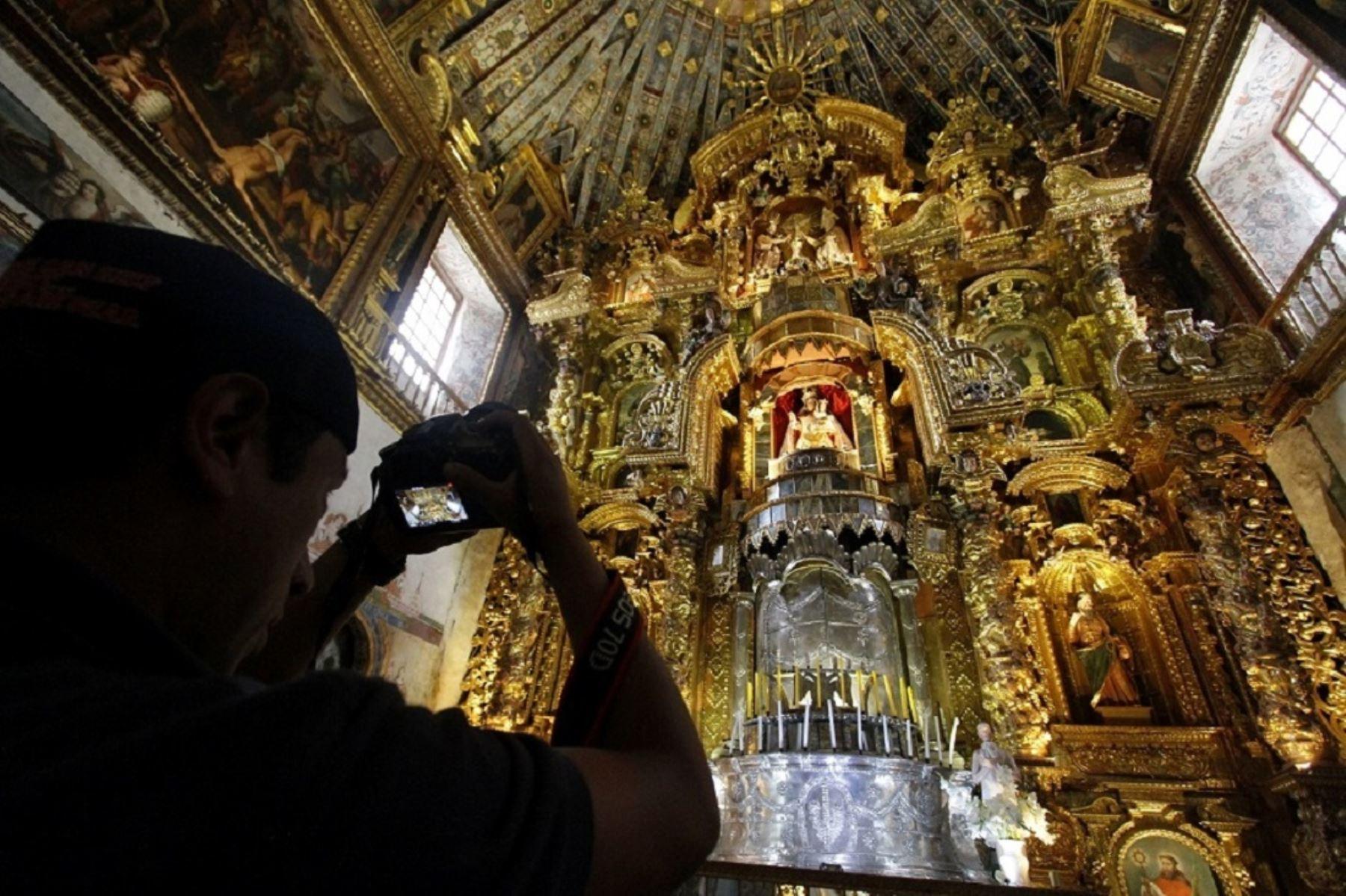 Impresionantes obras de arte atesoran los templos de la ruta del barroco andino de Cusco. ANDINA/archivo