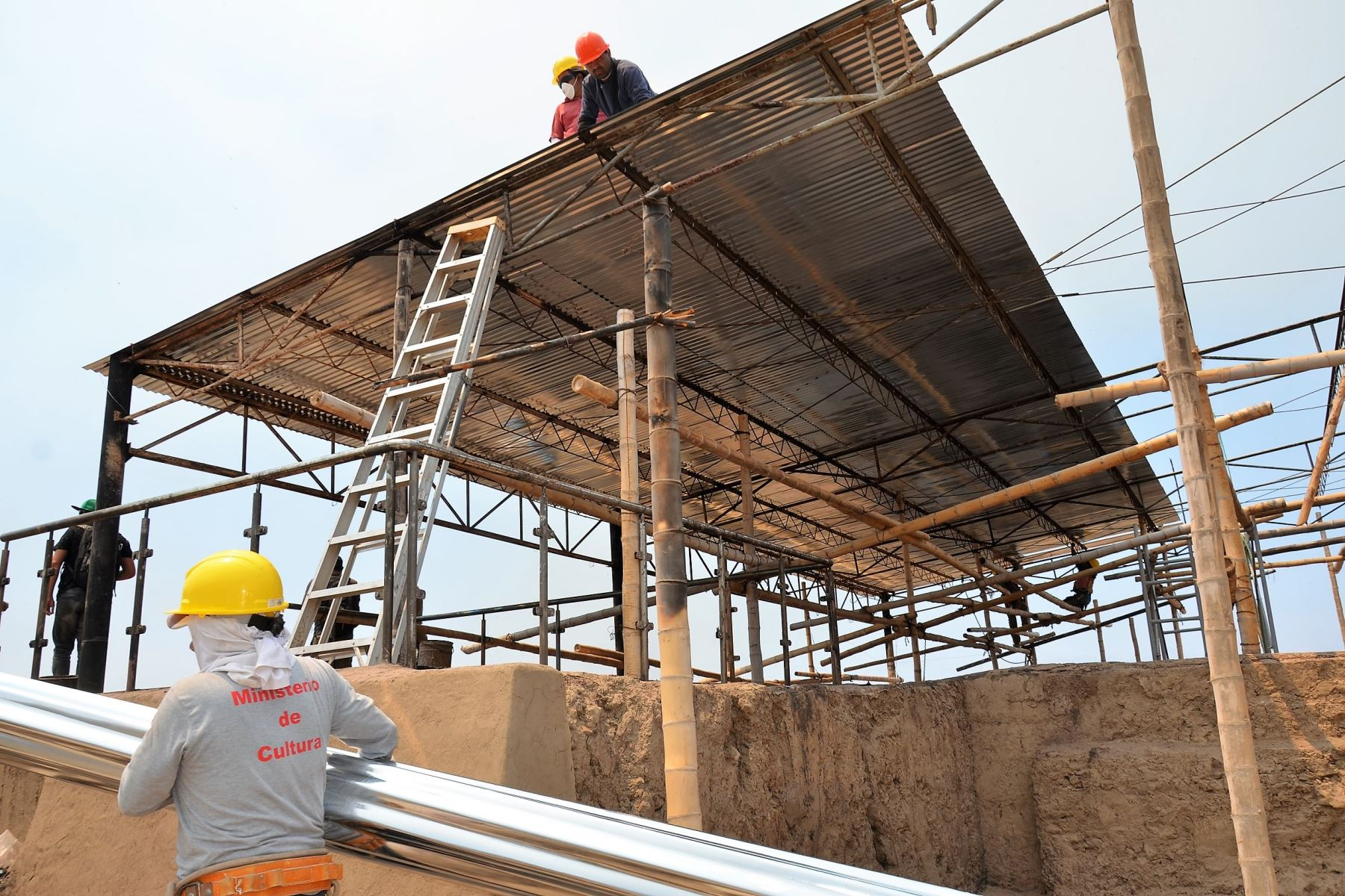 Avanza reposición de coberturas en sitio arqueológico Ventarrón, en Lambayeque. ANDINA