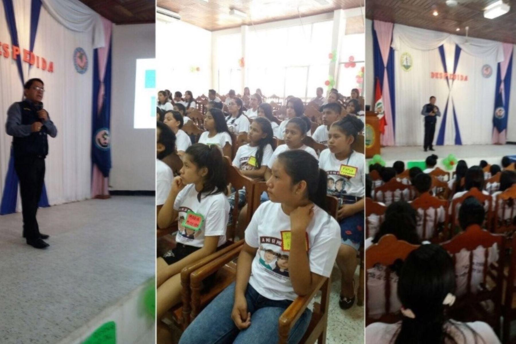 Cerca de 50 estudiantes de enfermería de Iquitos fueron capacitados en temas relacionados a la lucha contra los delitos de violación y trata de personas durante charla educativa que organizó el Ministerio Público.