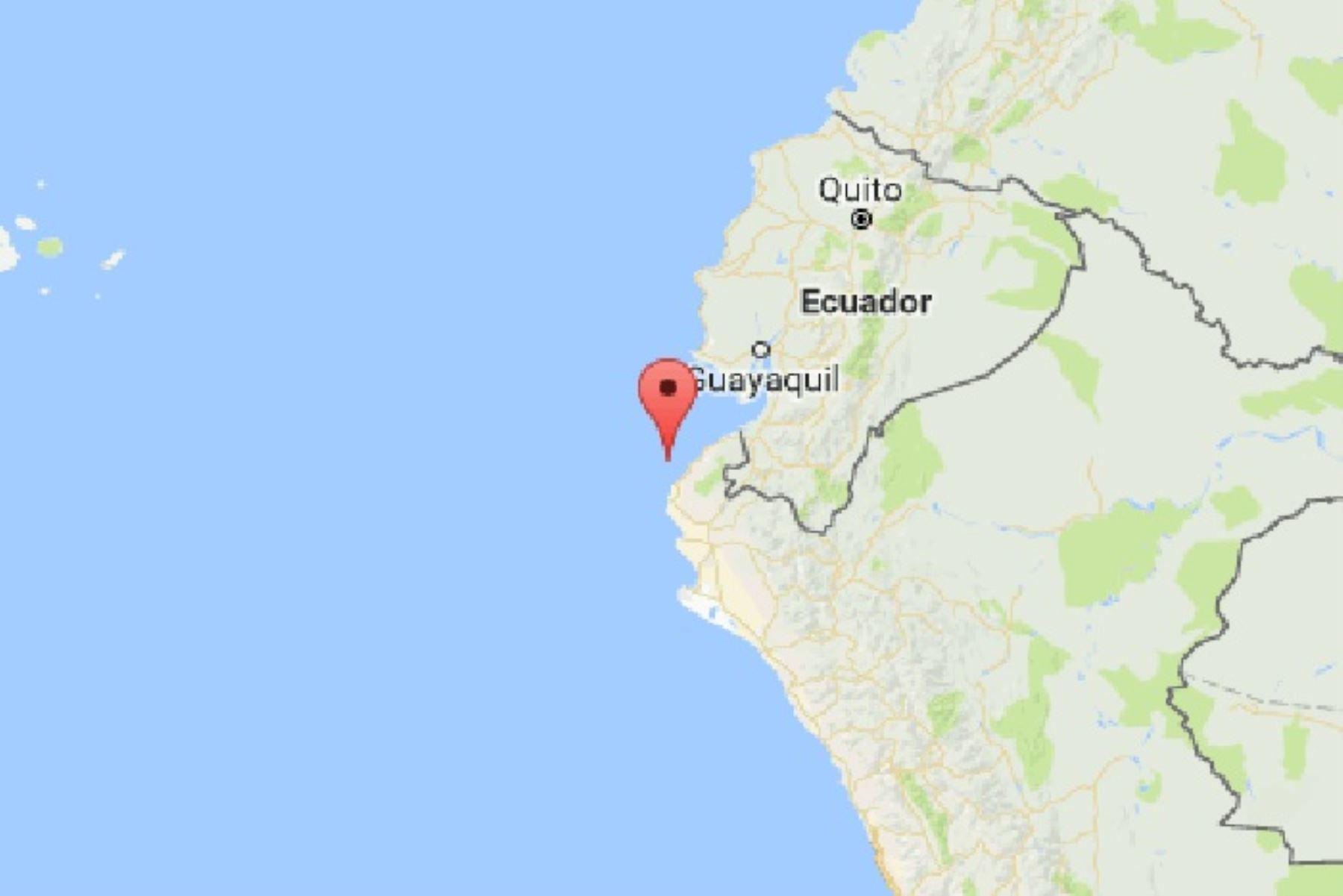 Un sismo de magnitud 5.4 se registró esta madrugada cerca del balneario de Máncora. ANDINA/Difusión