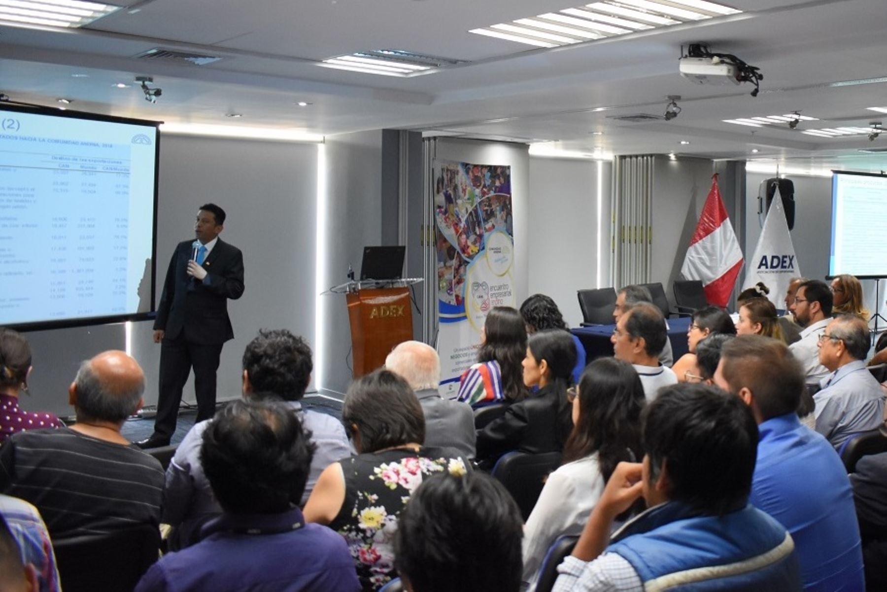 Presentación del Encuentro Empresarial Andino a realizarse en Arequipa en mayo próximo. Foto: Cortesía Promperú.