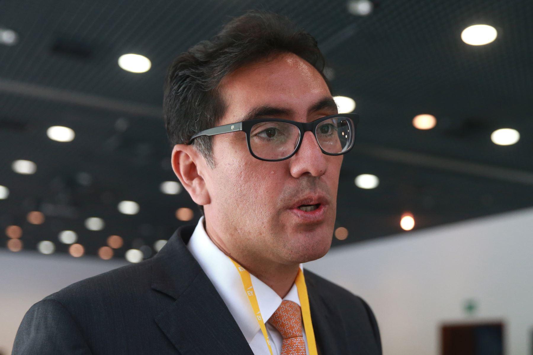 Presidente del Comité de Hidrocarburos de la SNMPE, Igor Salazar. ANDINA/Vidal Tarqui