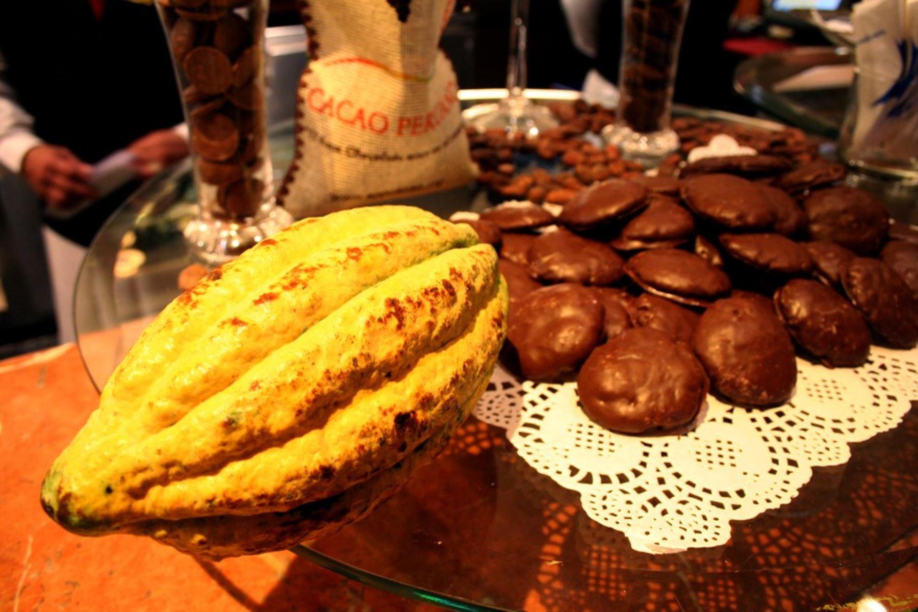 Cacao y chocolates. Foto: ANDINA/Difusión