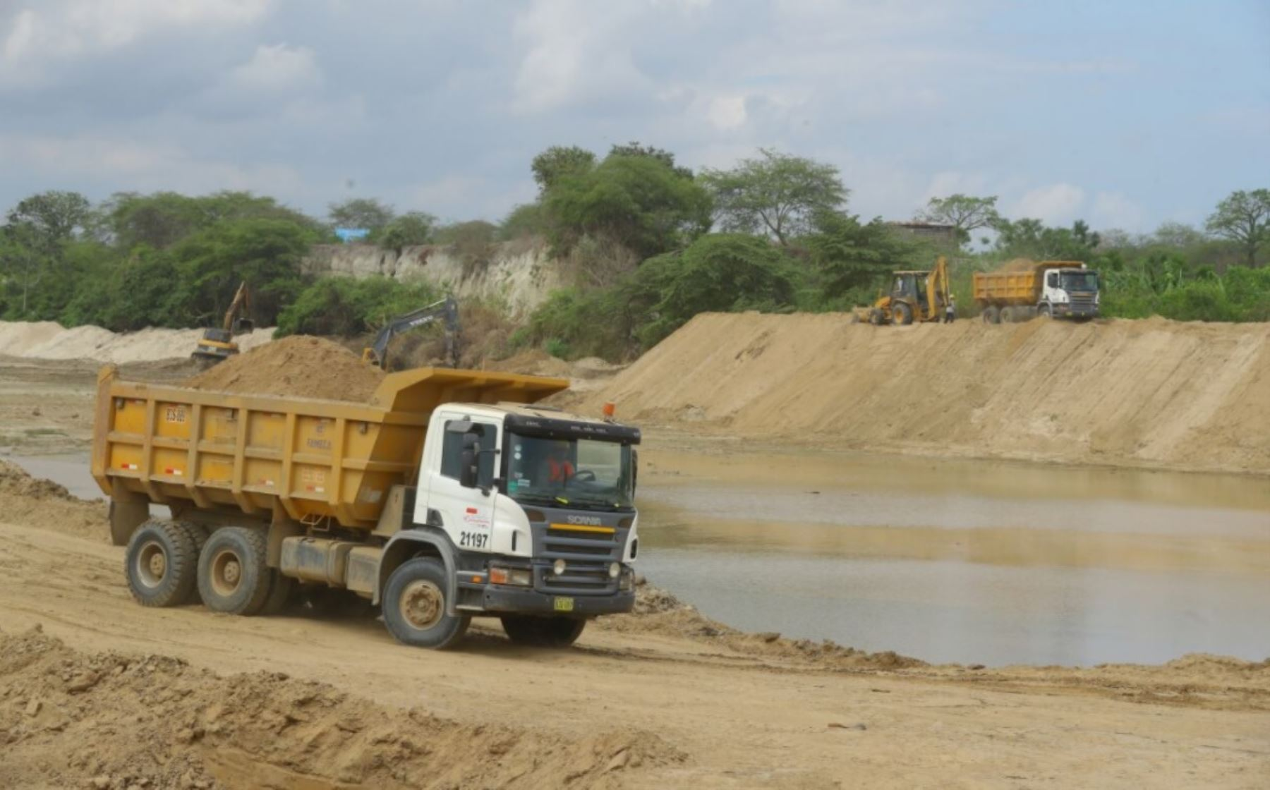 Obras de prevención en río Zarumilla en Tumbes. ANDINA/Difusión
