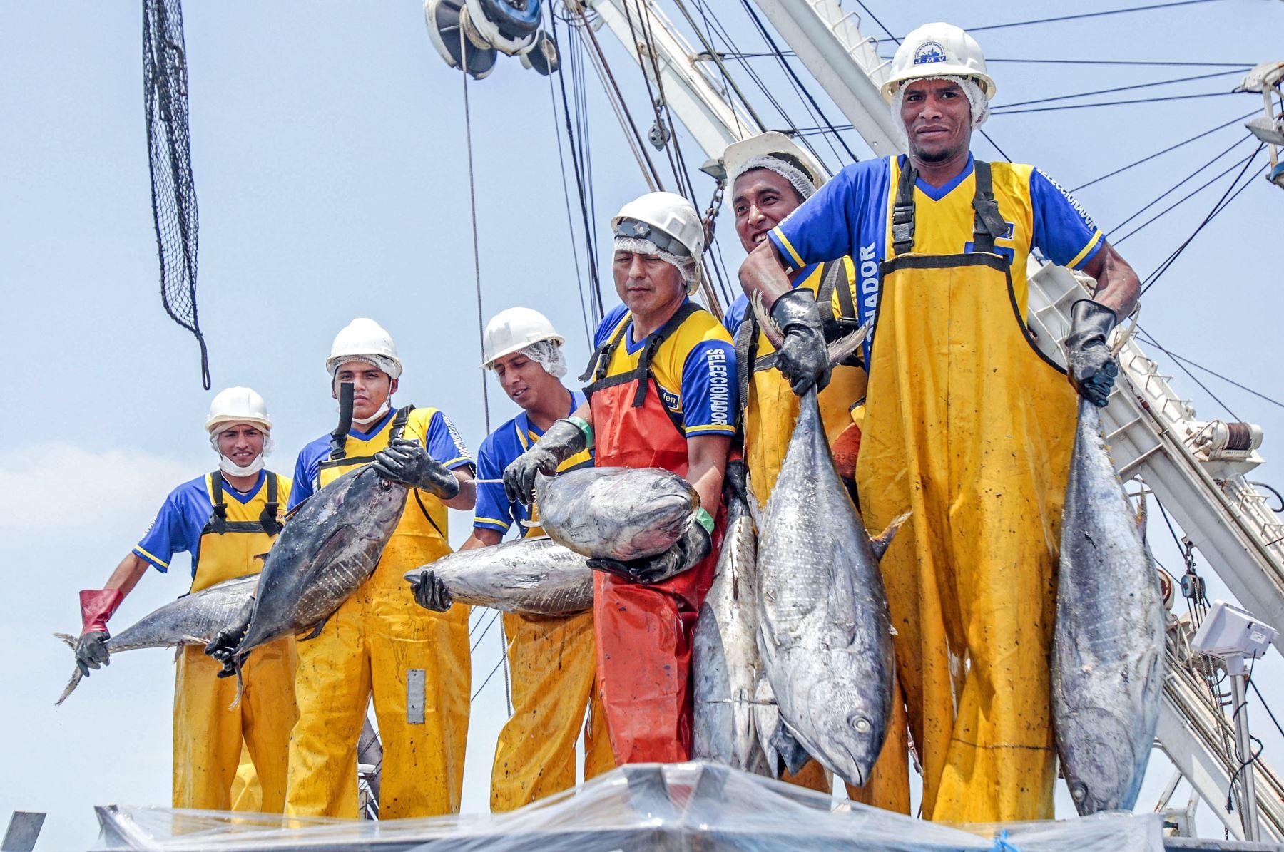 Pesca de atún en mar peruano. Foto: Cortesía